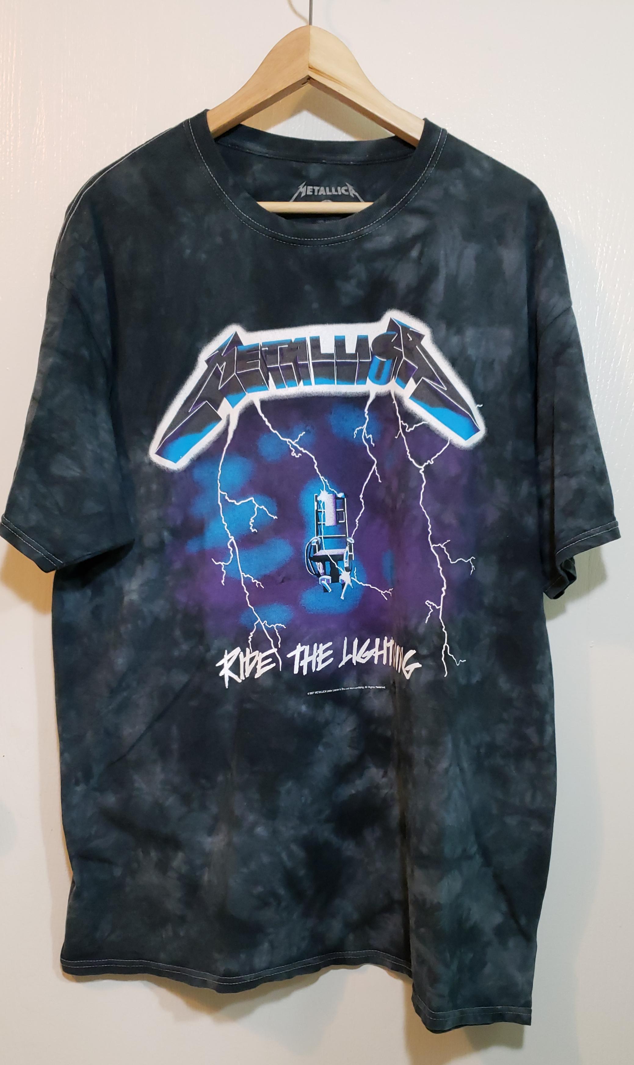 7946ea8522d0 Band Tee 2007 Metallica Ride The Lightning Tie Dye Graphic T Shirt ...