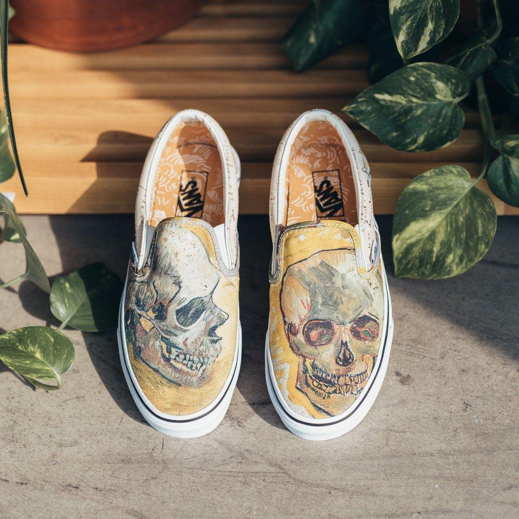 Vans Vans X Vincent Van Gogh Slip On Skull Sz 10 Ds Grailed