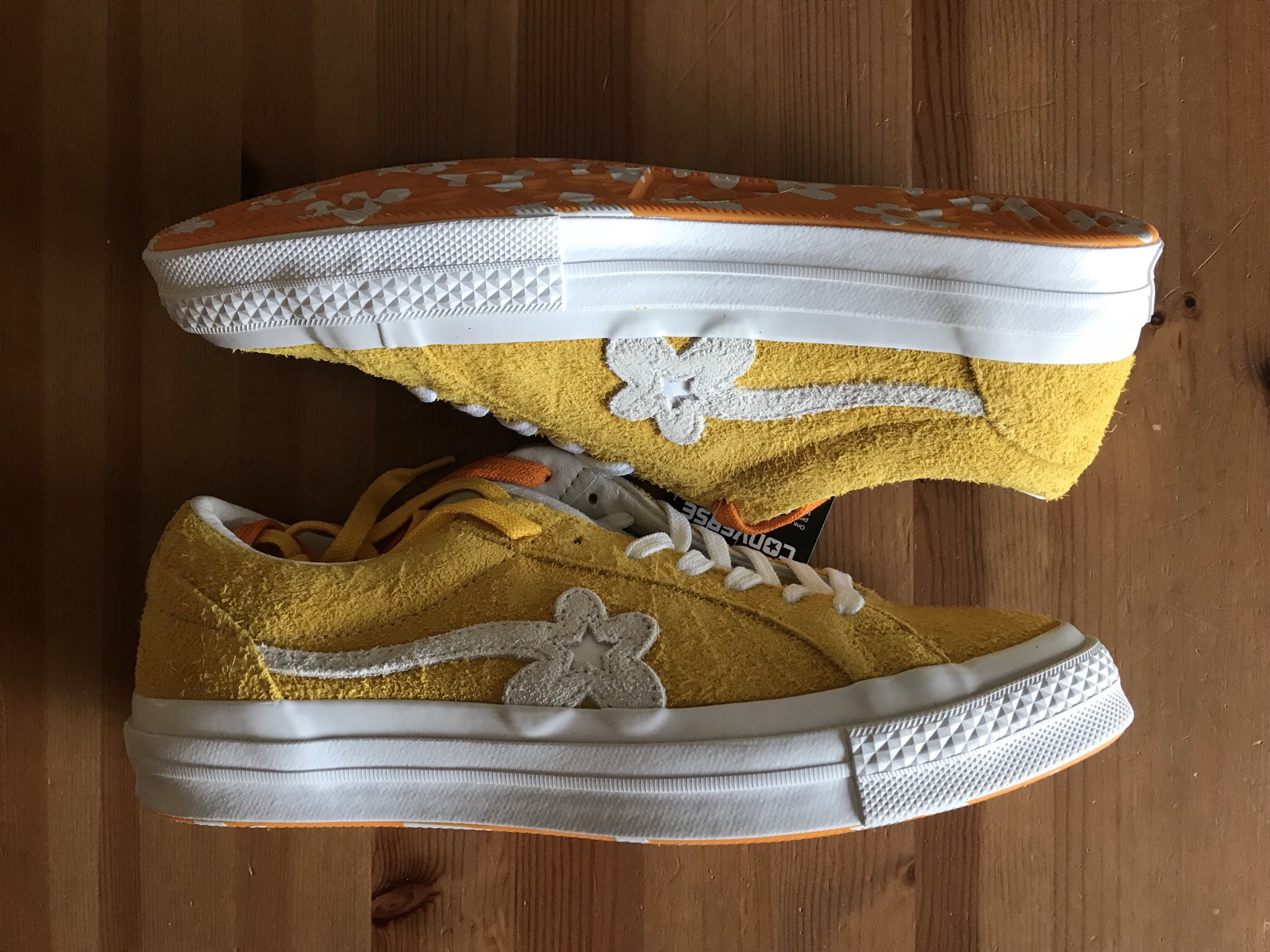 Converse Golf Le Fleur Uno One Star Sneakers In Mustard Yellow