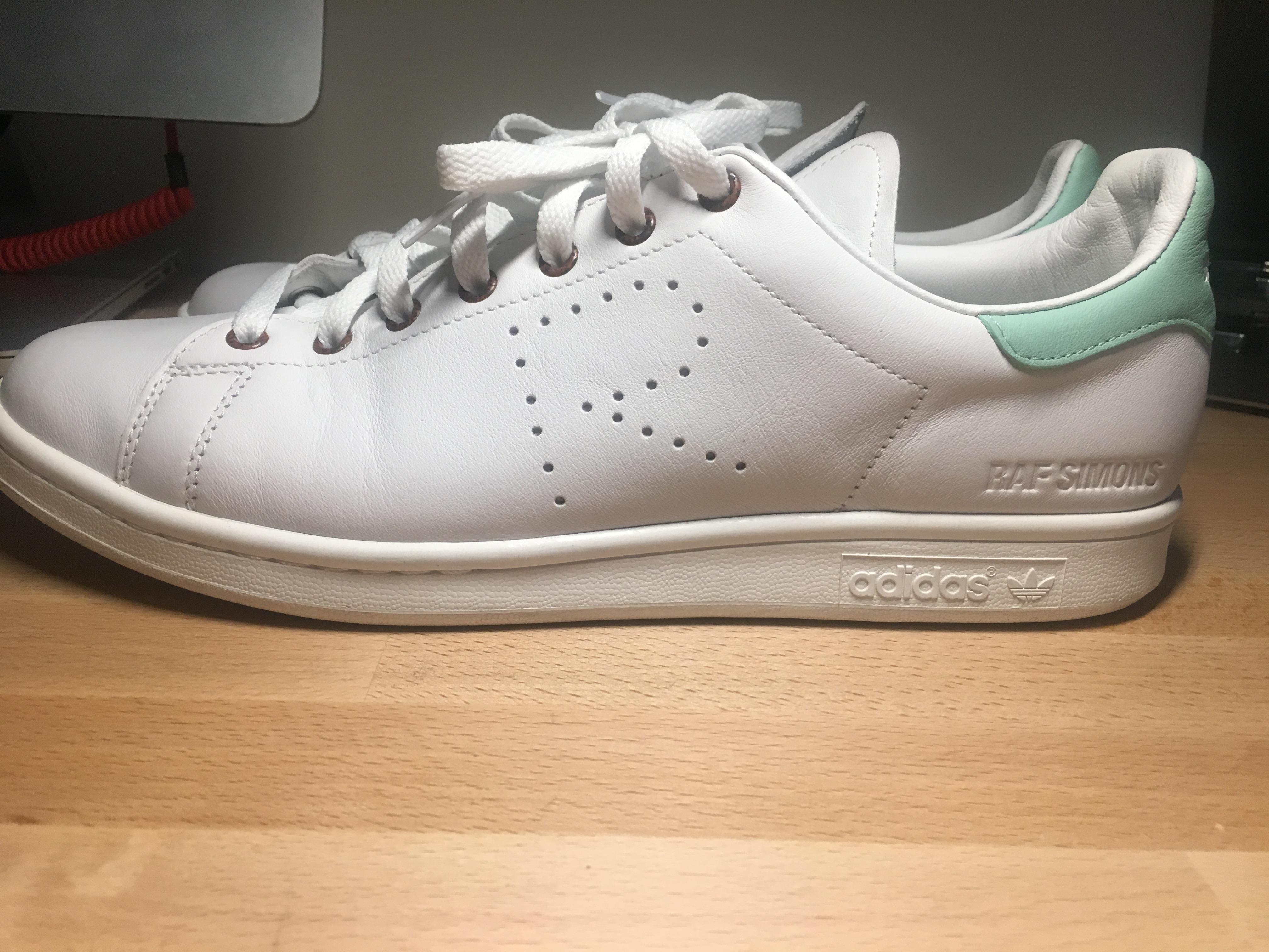 Adidas x Raf Simons Stan Smith In WhiteBlush Green