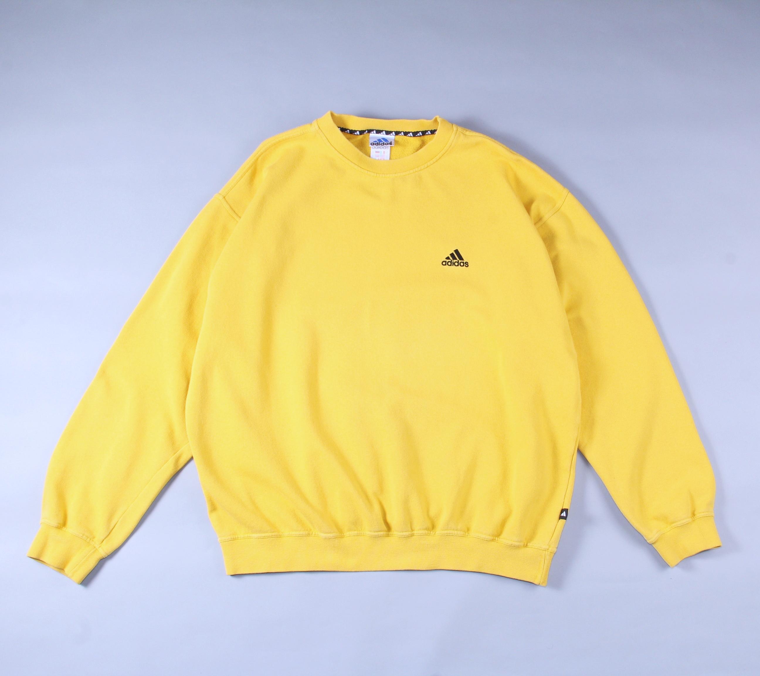 Bergantín rasguño Racional  Adidas Adidas Vintage Yellow Sweatshirt Size Xl   Grailed