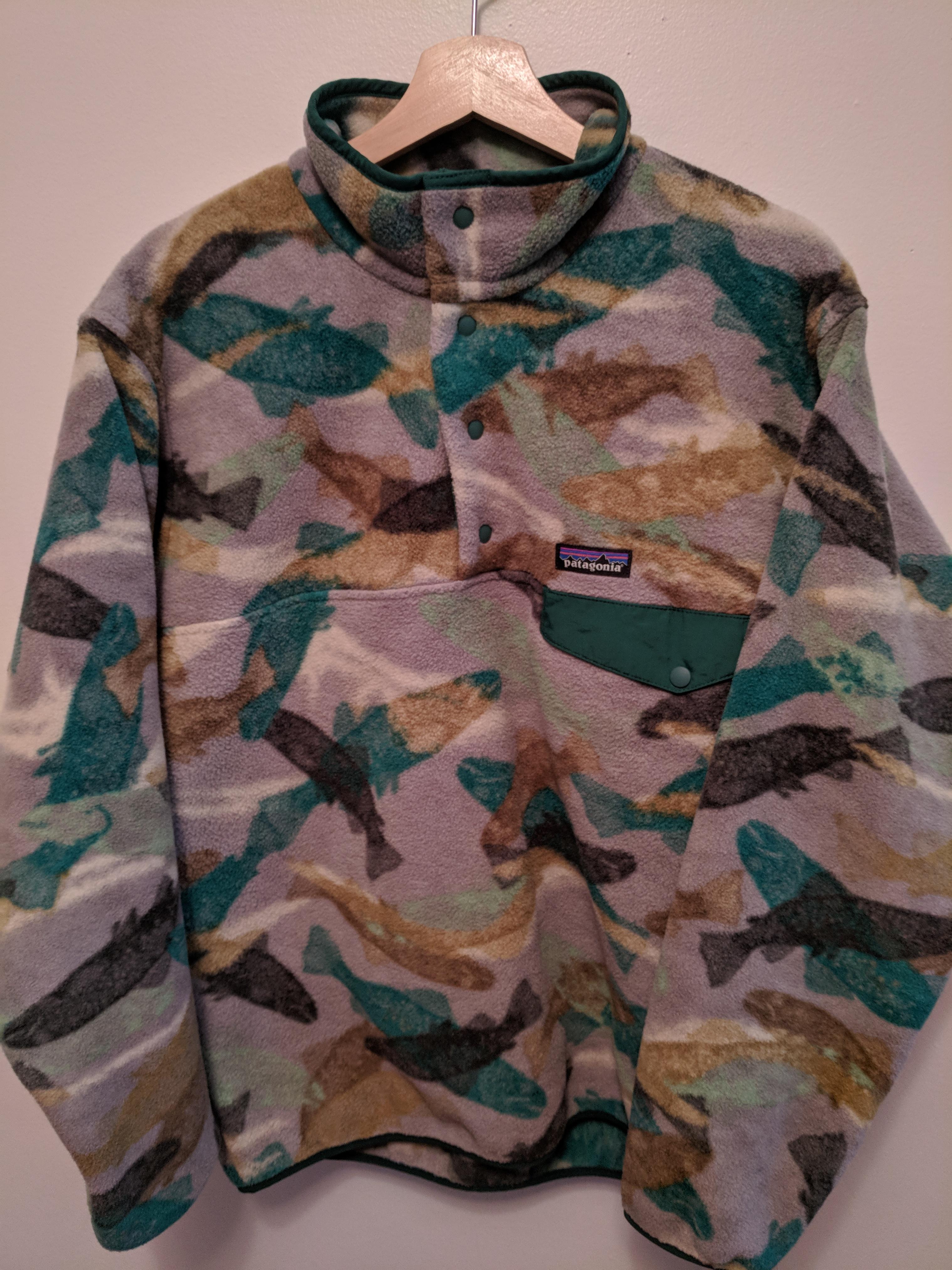 7402d429dfc50 Patagonia Camo Synchilla Fleece Pullover | Grailed