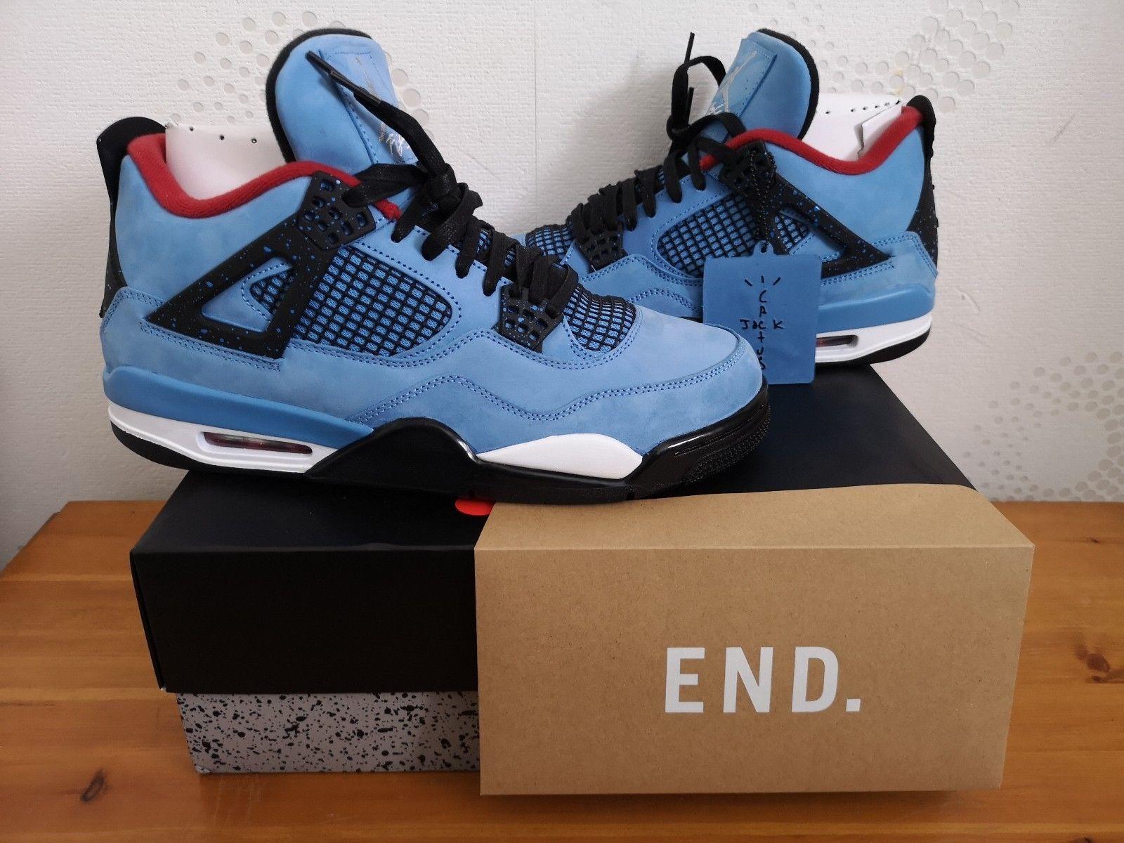 Nike Air Jordan 4 Retro X Travis Scott Cactus Jack With Receipt
