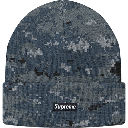 17a76cf190 Supreme Navy Digi Camo Beanie Size one size - Hats for Sale - Grailed