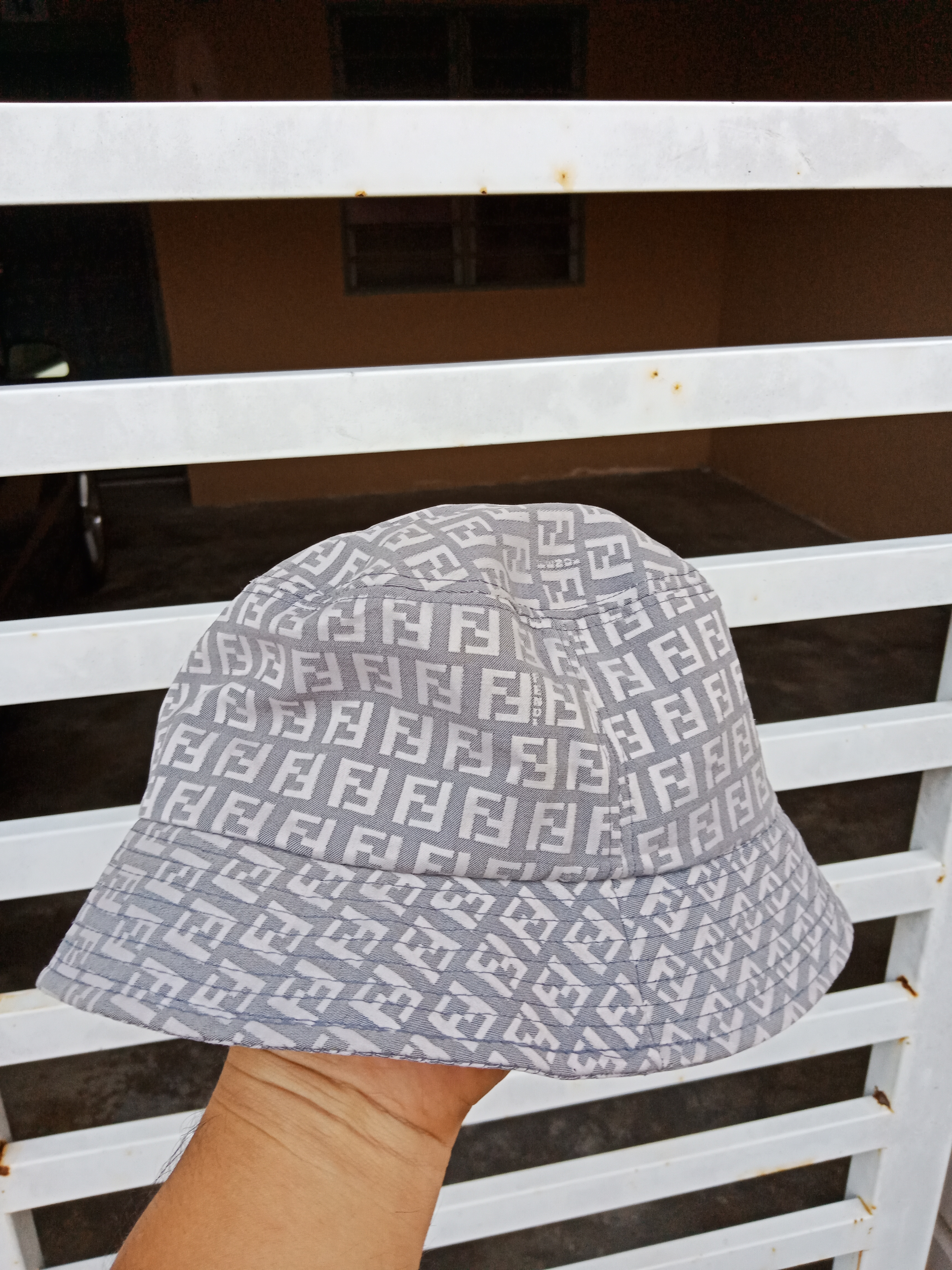 ac4edb2fea78b Fendi × Luxury ×. Luxury Fendi Monogram Spellout Fullprint Bucket Hat Made  in Italy. Size  ONE SIZE
