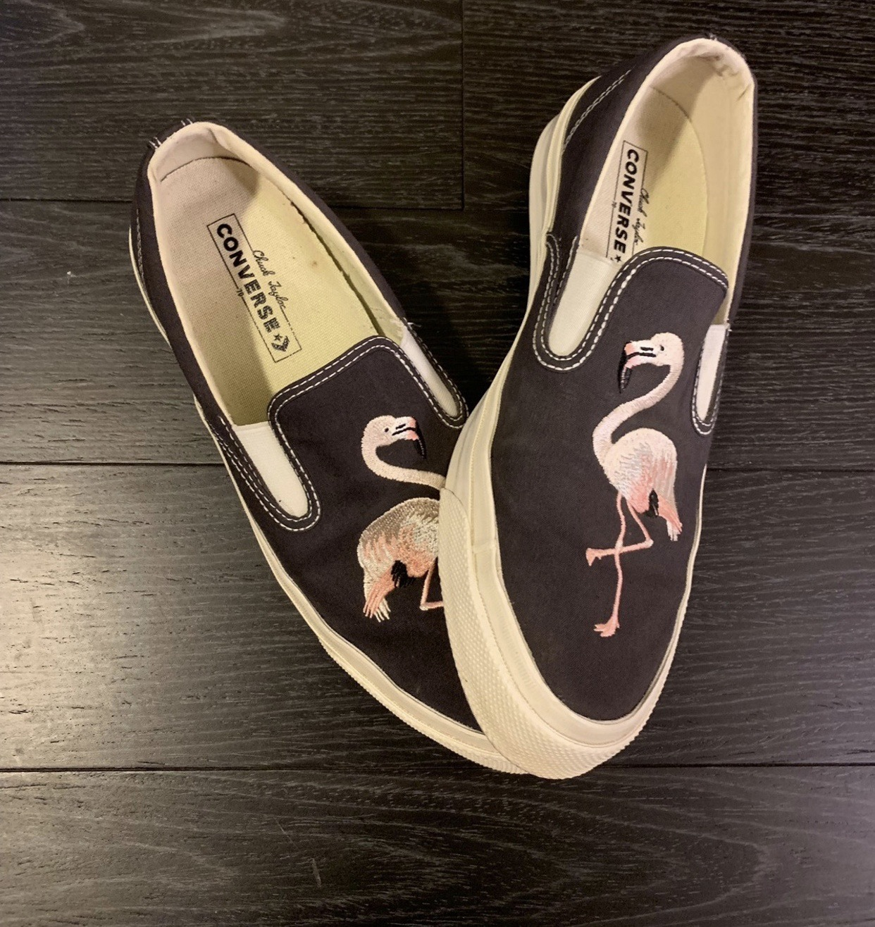 6f3125c07a125a Converse Flamingo Slip On Size 9 - Low-Top Sneakers for Sale - Grailed