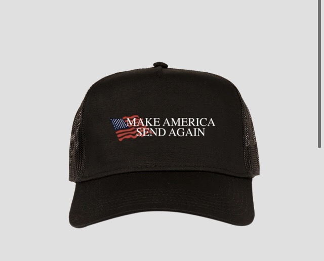 MAKE AMERICA SEND AGAIN BLACK FULL SEND HAT