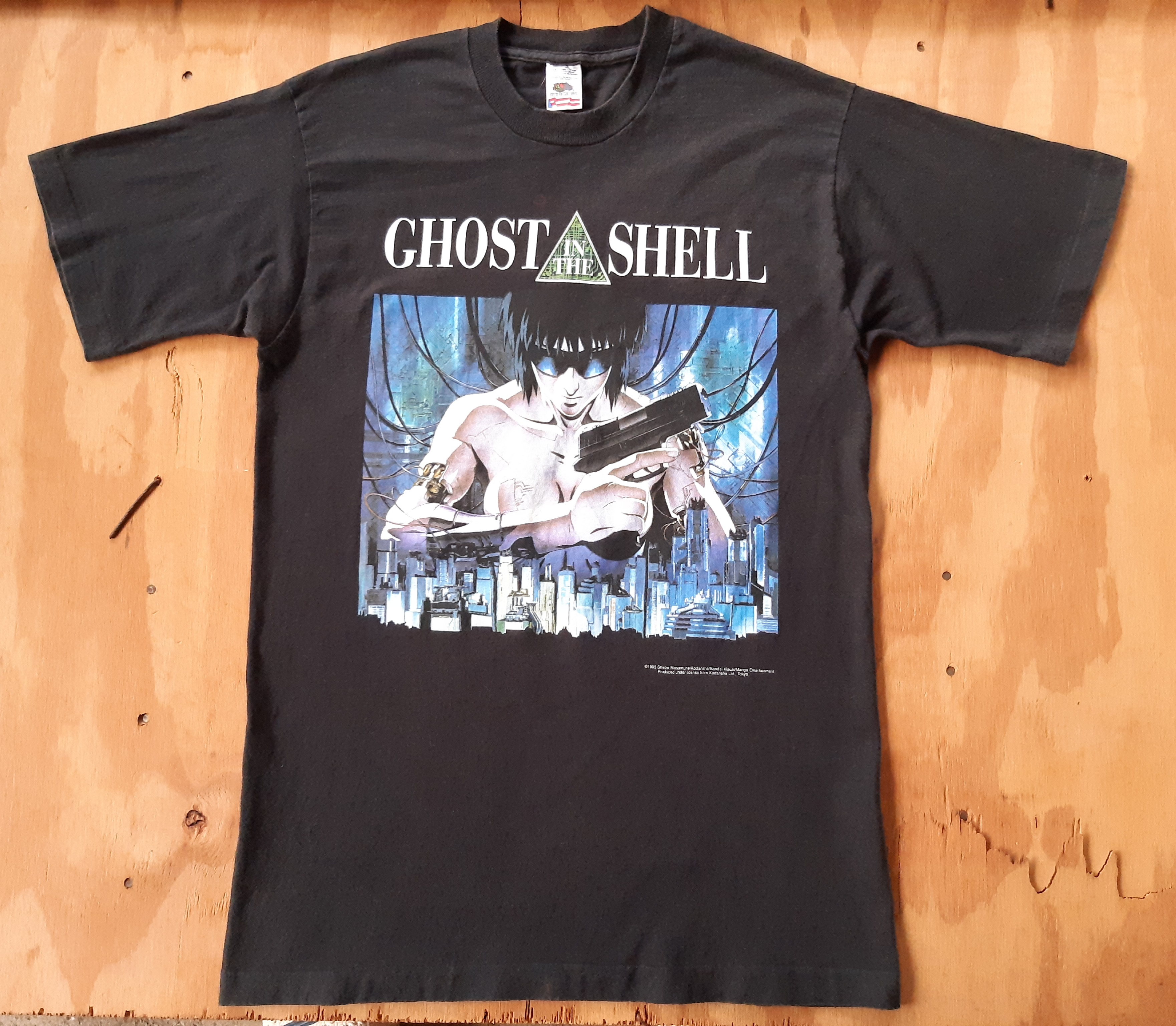 Vintage Vintage 1995 Ghost In The Shell Black T Shirt Grailed