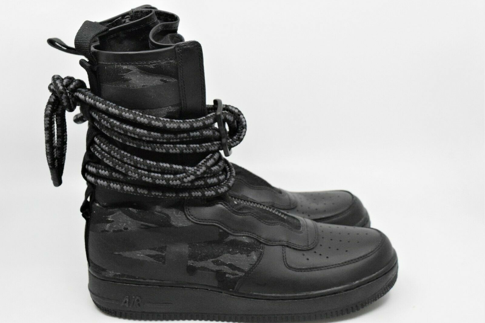 Nike SF Air Force 1 High BOOTS Black Dark Grey Size 10 Aa1128 002