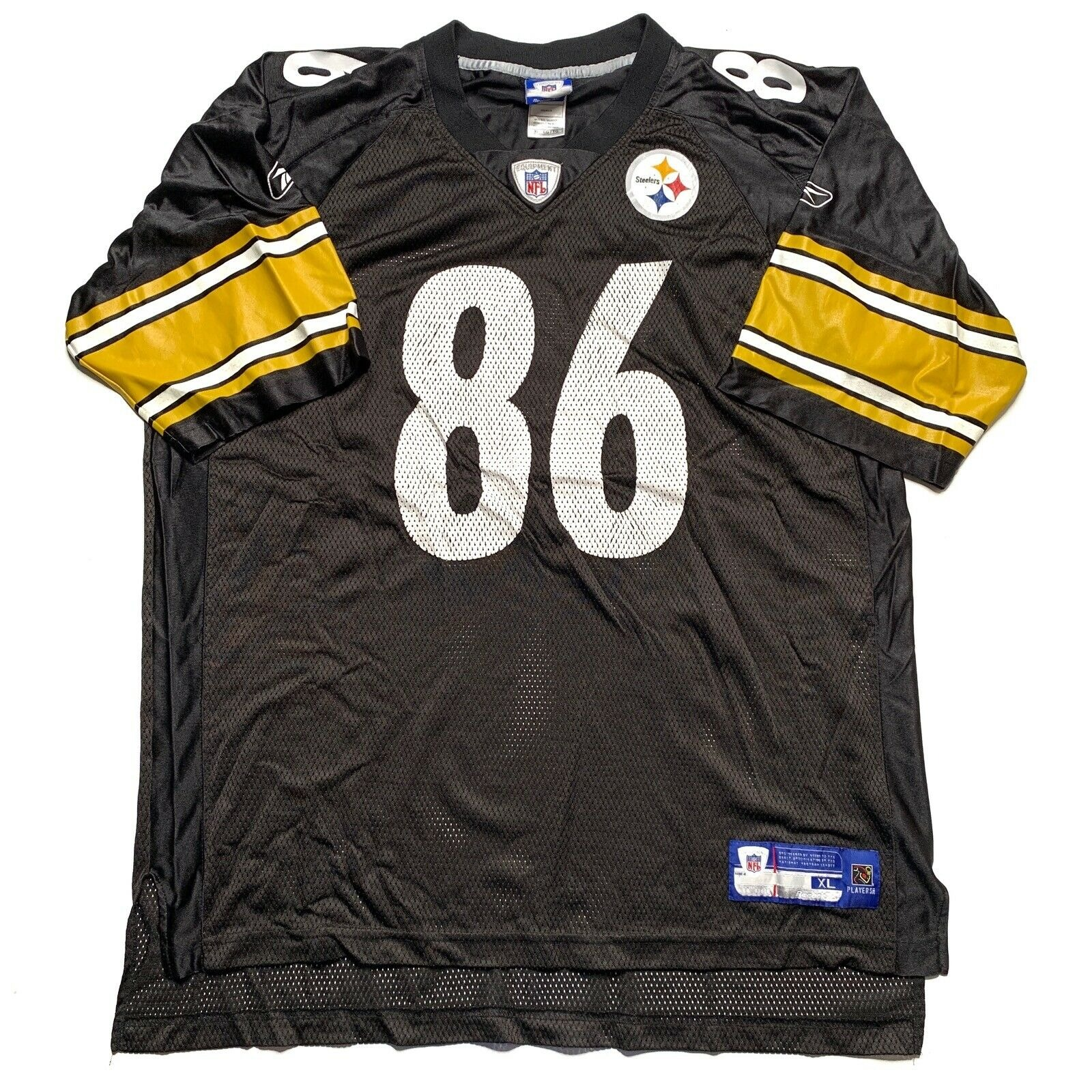 Vintage Pittsburgh Steelers Hines Ward Jersey Size XL Black