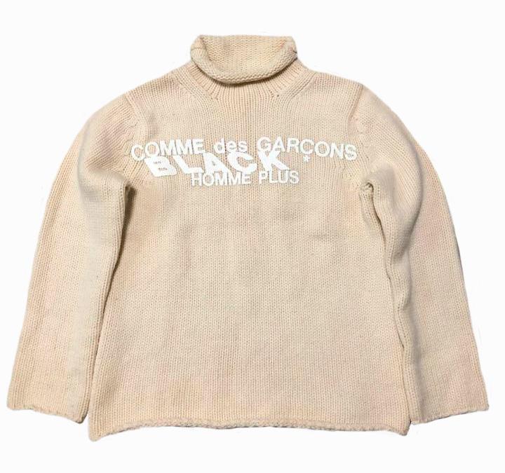 A/W 2002 Homme Plus Black heavy wool mock neck sweater