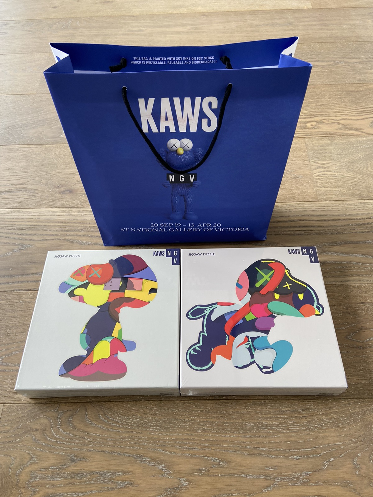 Exclusive KAWS NGV 1000 pieces puzzles Brand New Sealed Sold Out