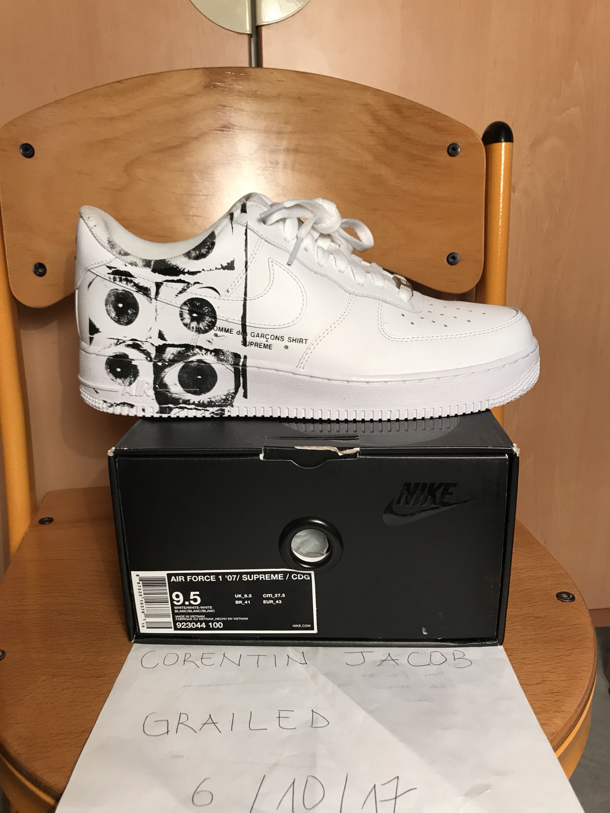 Nike Air Force 1 Supreme X Comme Des Garçons CDG