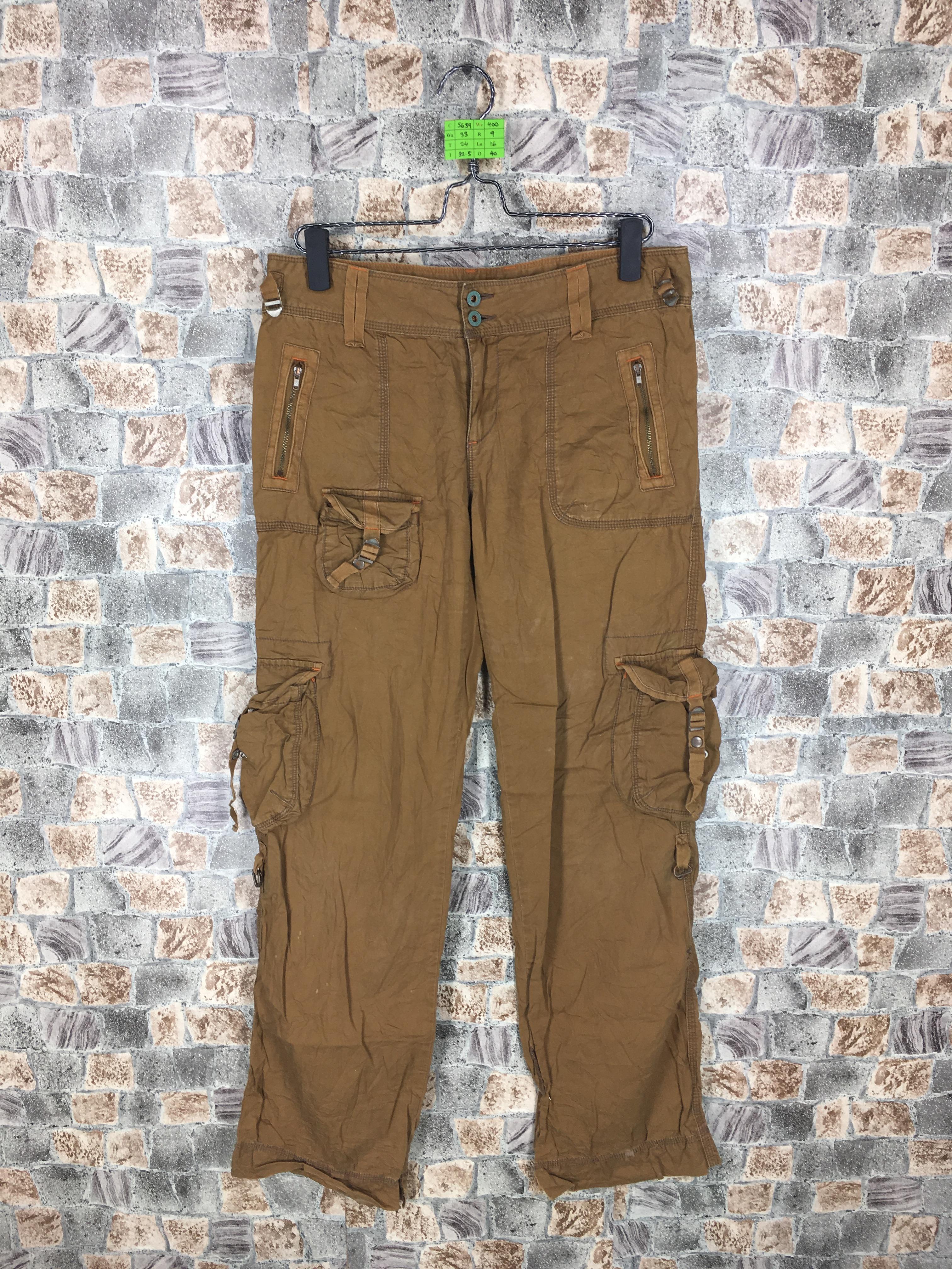 1d9c7c1b POLO RALPH LAUREN Cargo Pants Brown Parachute Style Multi Pocket Trouser  Waist 33