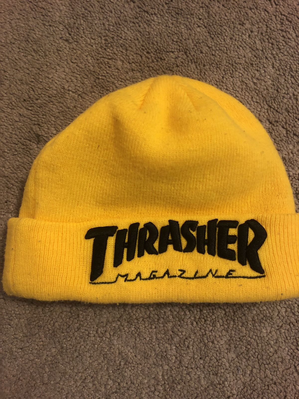 Thrasher Yellow Thrasher Beanie Size one size - Hats for Sale - Grailed b6bca000b02