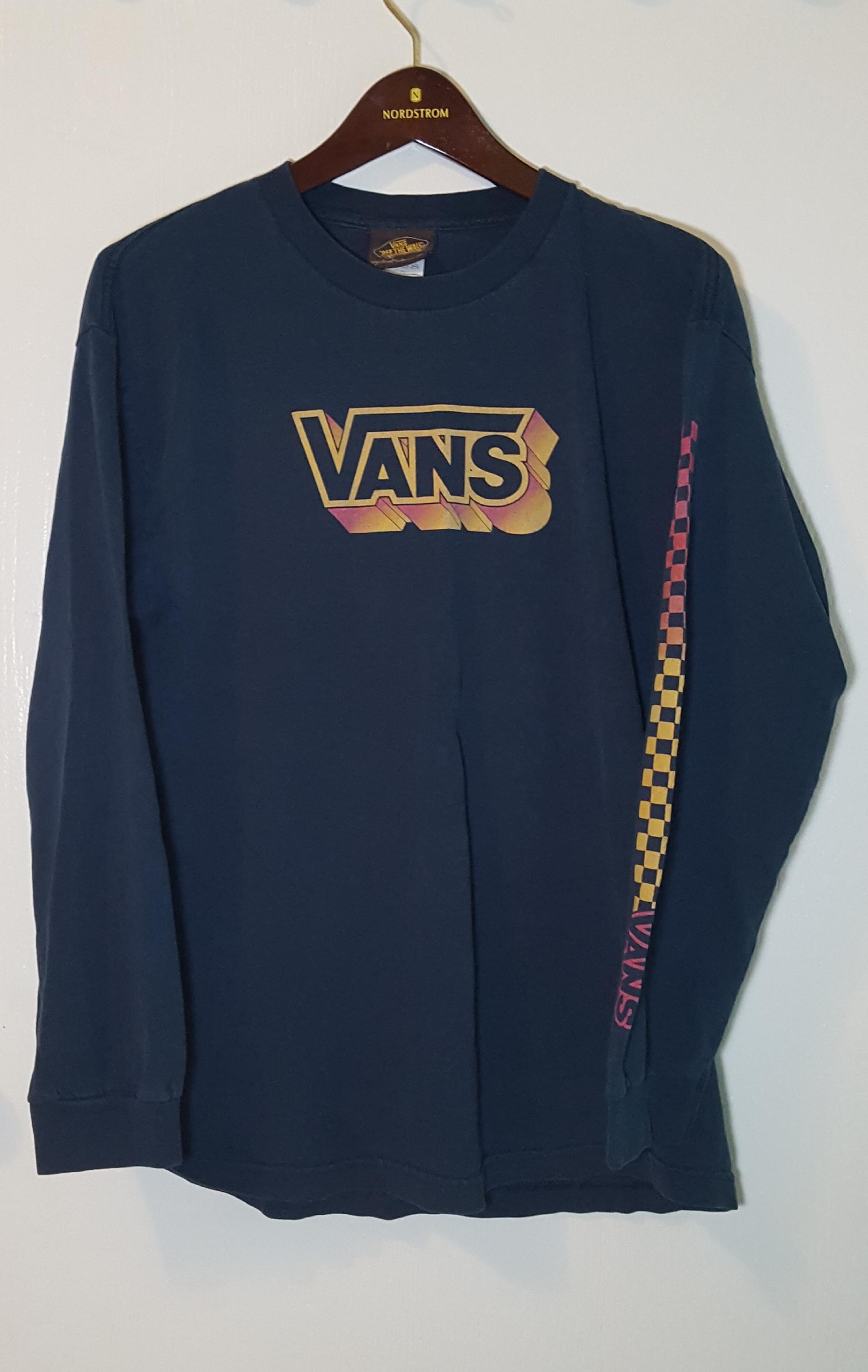 d3f2bc58b131 Vans Vintage VANS Checkerboard Long Sleeve T shirt Mens Sz L Size l - Long  Sleeve T-Shirts for Sale - Grailed