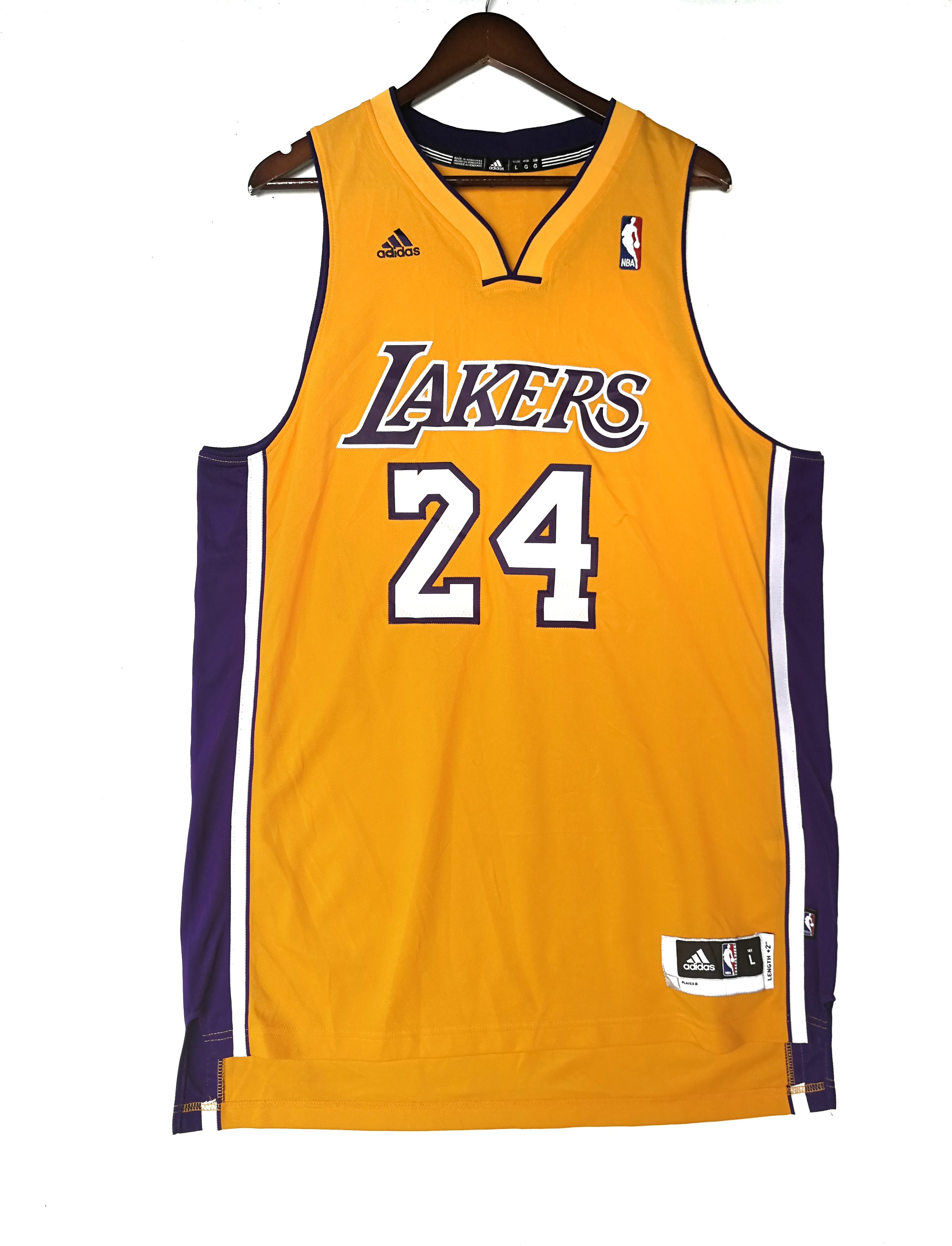 new products a1e21 182b6 Los Angeles Lakers Kobe Bryant embroidered jersey by Adidas not Michael  Jordan Chicago Penny Hardaway The Suns Big Shaq O'Neil