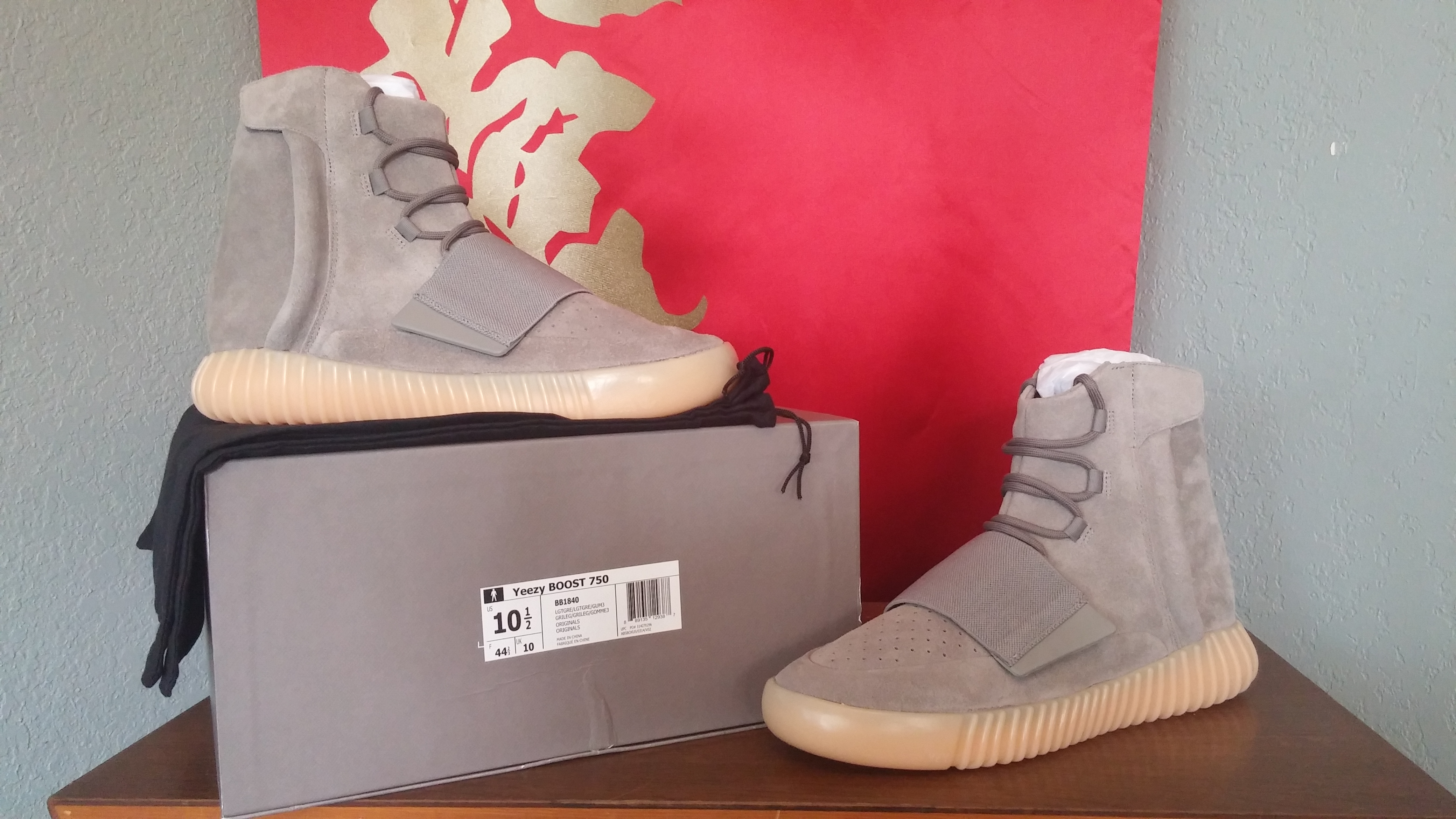 c413ad1635eb Adidas Yeezy Boost 750 Grey Gum Size 10.5 - for Sale - Grailed