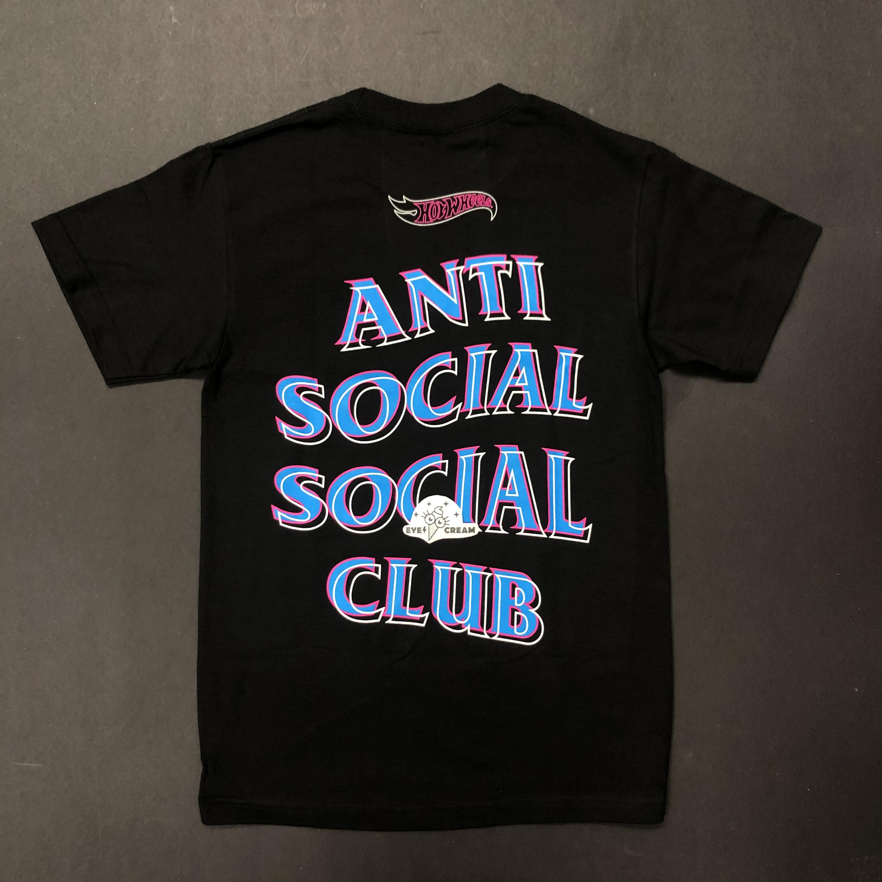 Anti Social Social Club x Hot Wheels Black Hoodie Size XXL
