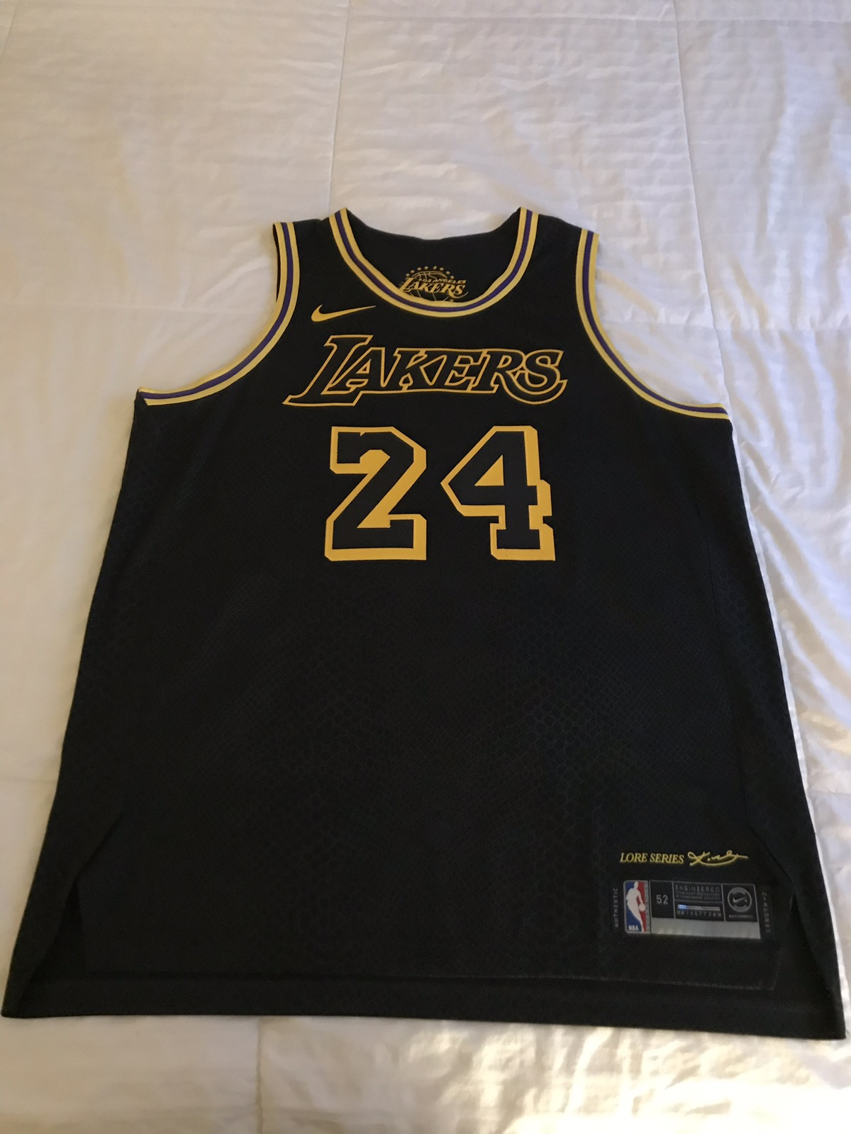 b69e8bee9 Nike Nike Kobe Bryant City Edition Authentic Los Angeles Lakers Jersey Size  52 XL Supreme Bape Off White Vlone Fear Of God Size xl - Jerseys for Sale -  ...
