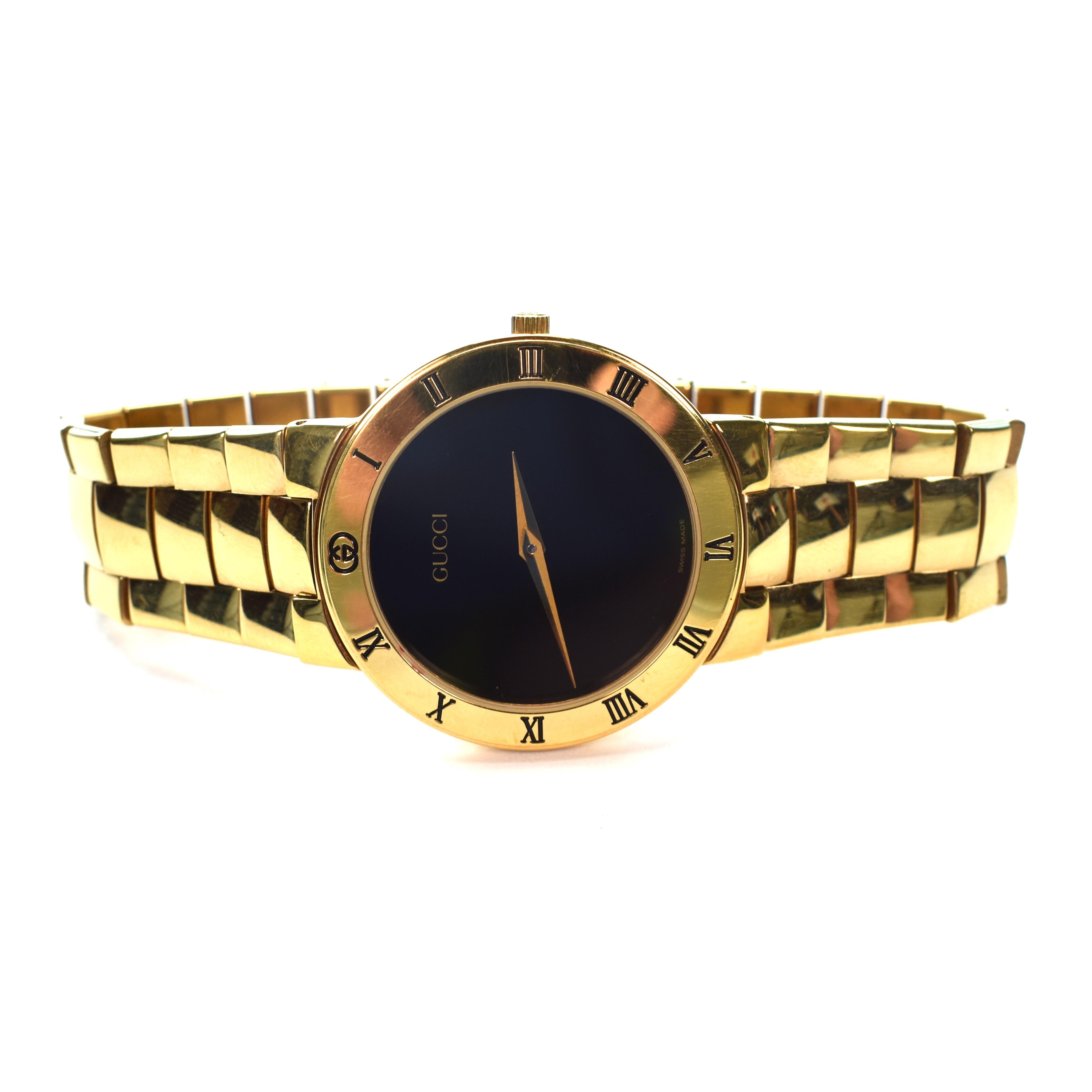 9f418f93fec Gucci ×. 90s Pulp Fiction 3300M Gold Watch