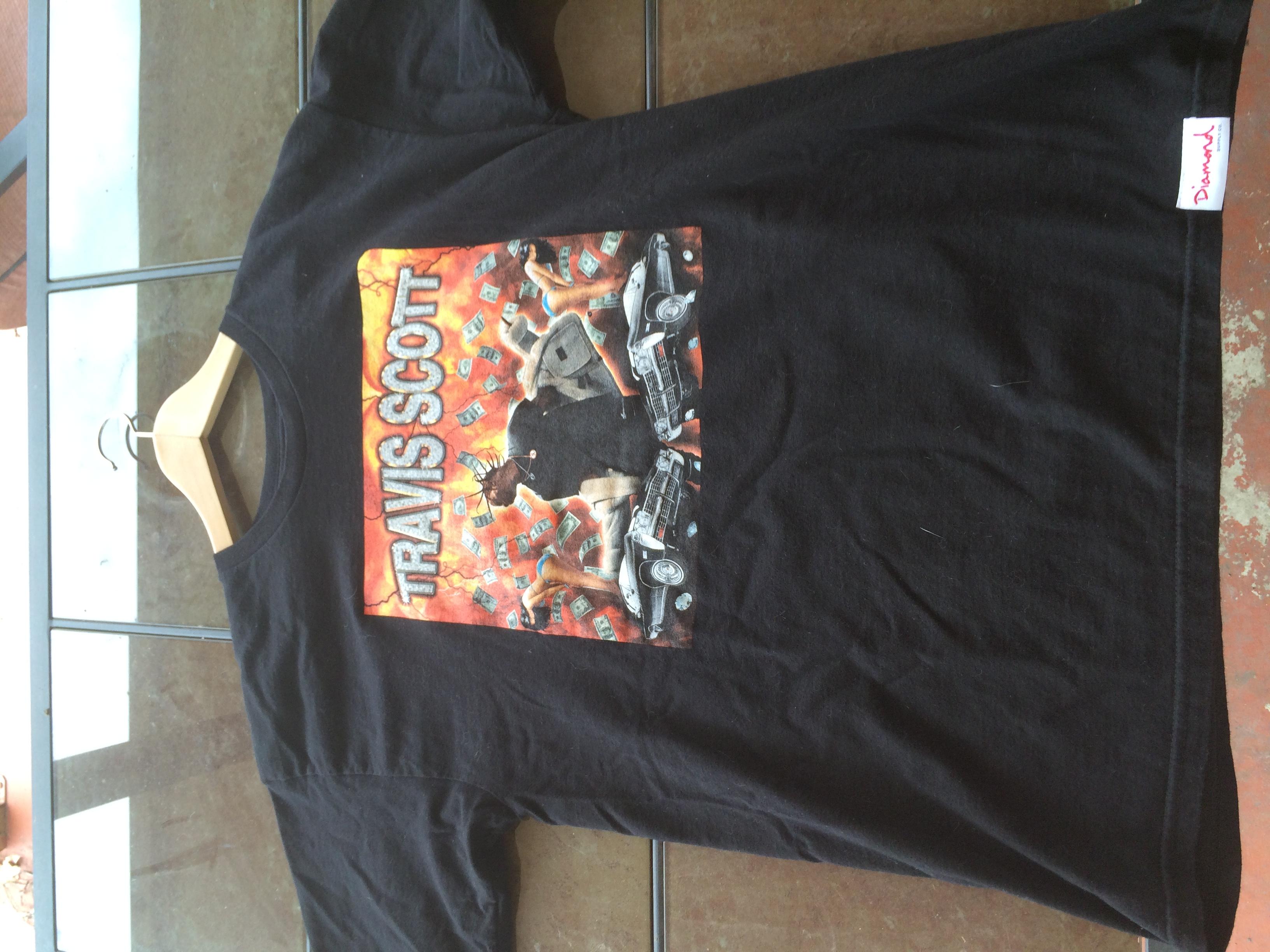 54dd999c46bc Travis Scott Diamond Supply Co. X Travi$ Scott Explosion T-shirt | Grailed