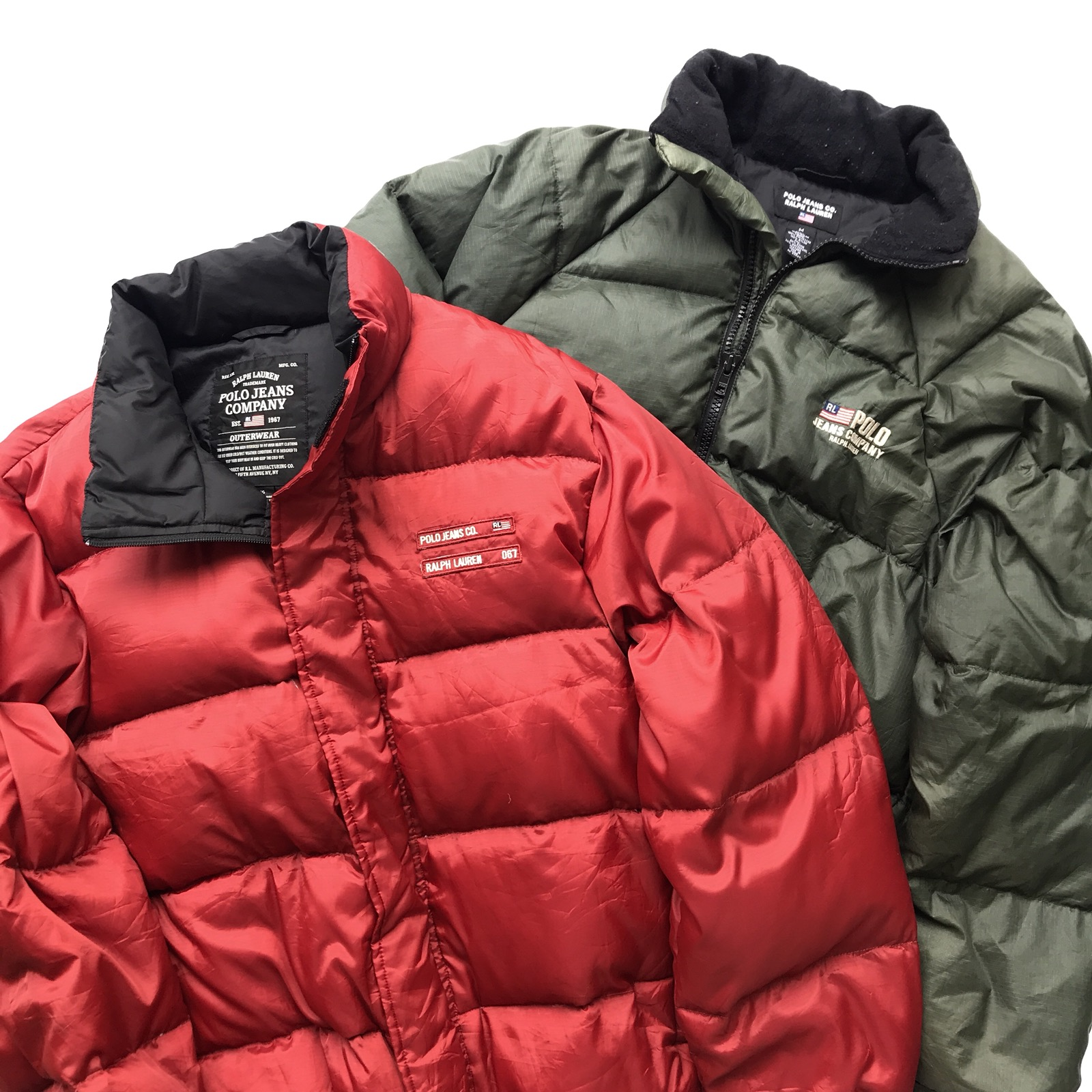 9286447a0 Get 2 Vintage Polo Jeans Company Ralph Lauren Puffer / Puffa / Goose Down  Jacket not moncler the north face tommy hilfiger