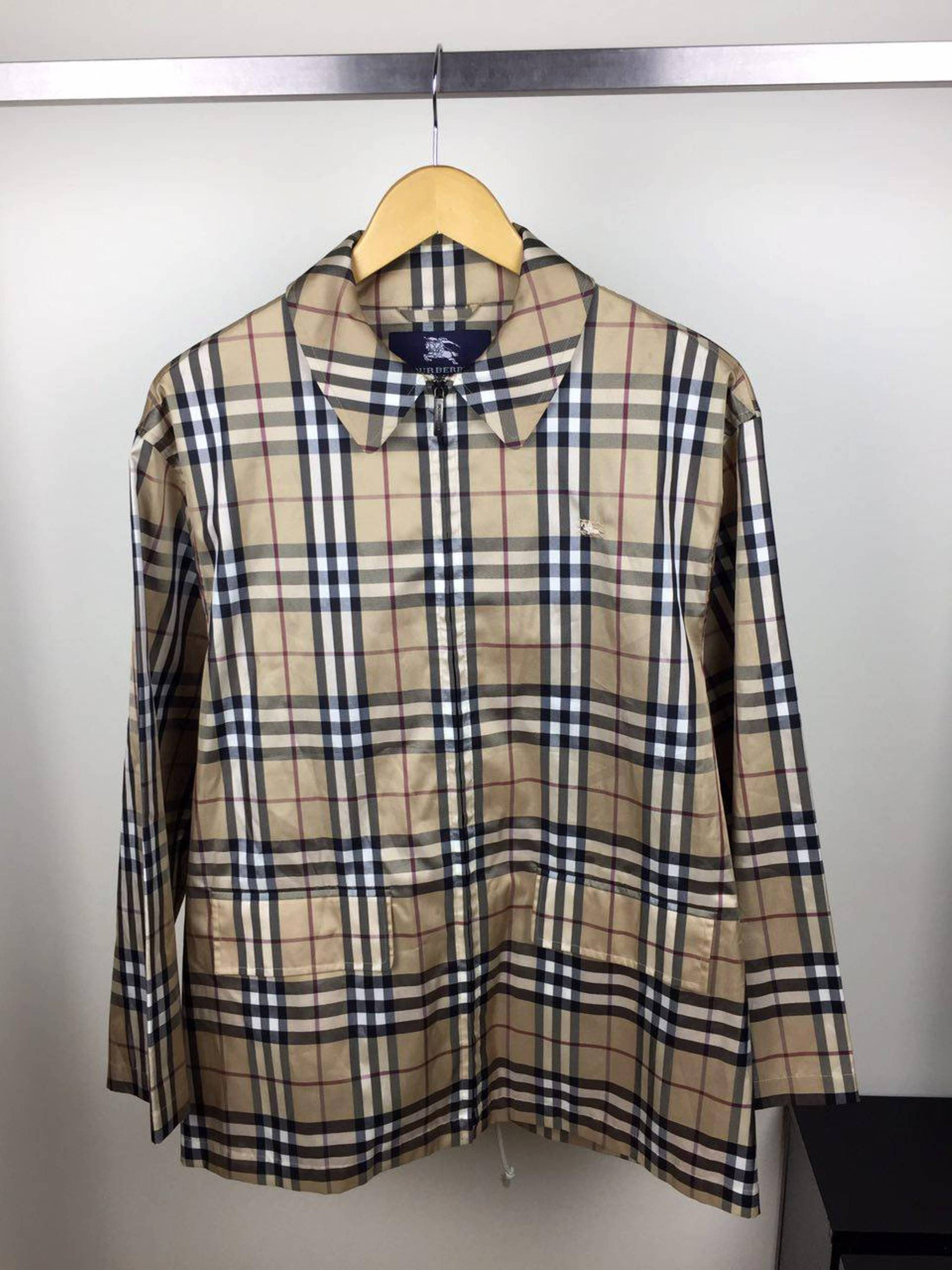 6c9bfcfe4 Burberry ×. BURBERRY TRANSOFRMER PACKABLE BLOUSON NOVA CHECK JACKET COAT  RAINCOAT not gucci ...