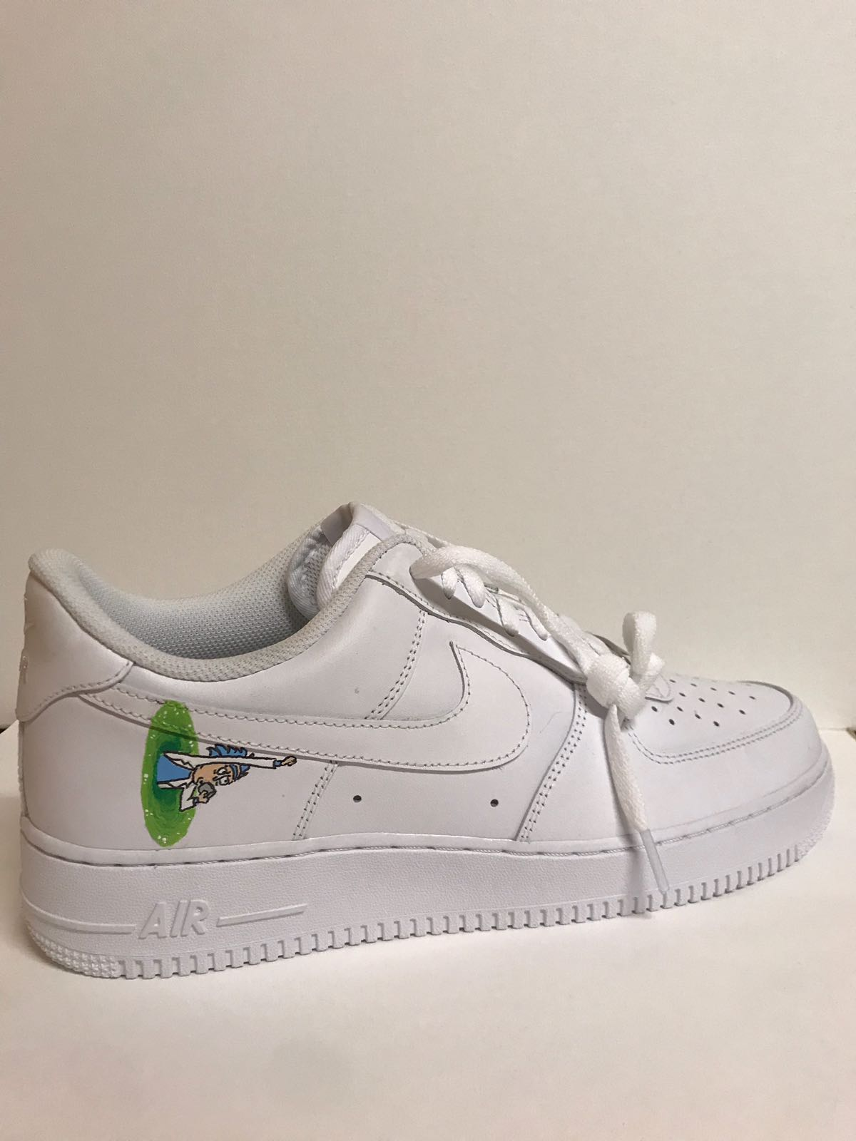 best service 9cf6c 63b35 Nike ×. Custom painted rick and morty Nike Air Force 1