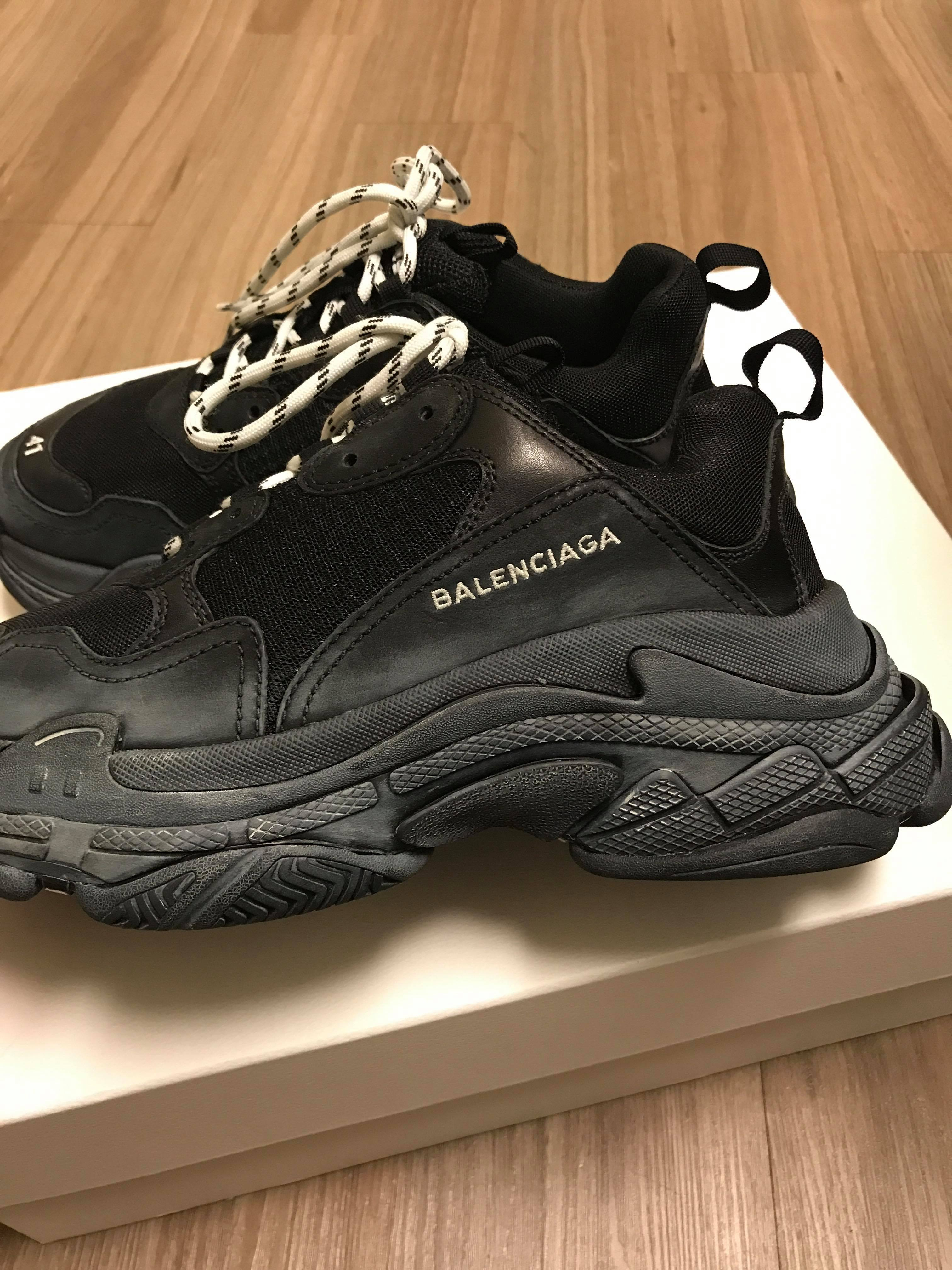 Balenciaga Synthetic Triple S Trainers in Gray for Men Lyst