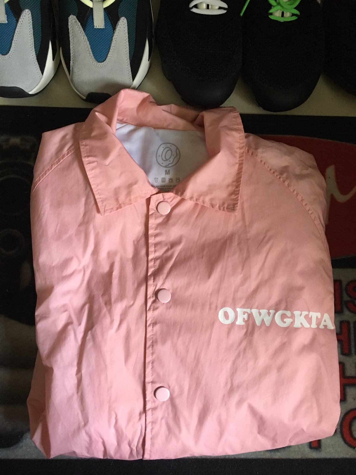 dc0fb4ef223a98 Odd Future OFWGKTA Pink Windbreaker Size m - Light Jackets for Sale -  Grailed