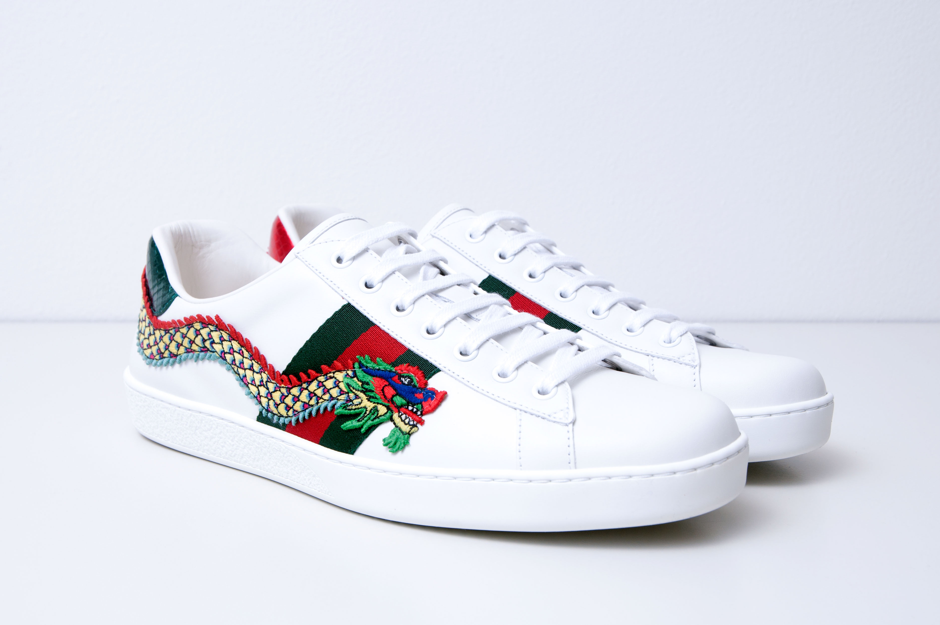 dc8c4f03e14 Gucci ×. Dragon Embroidery Ace Low Top Sneakers