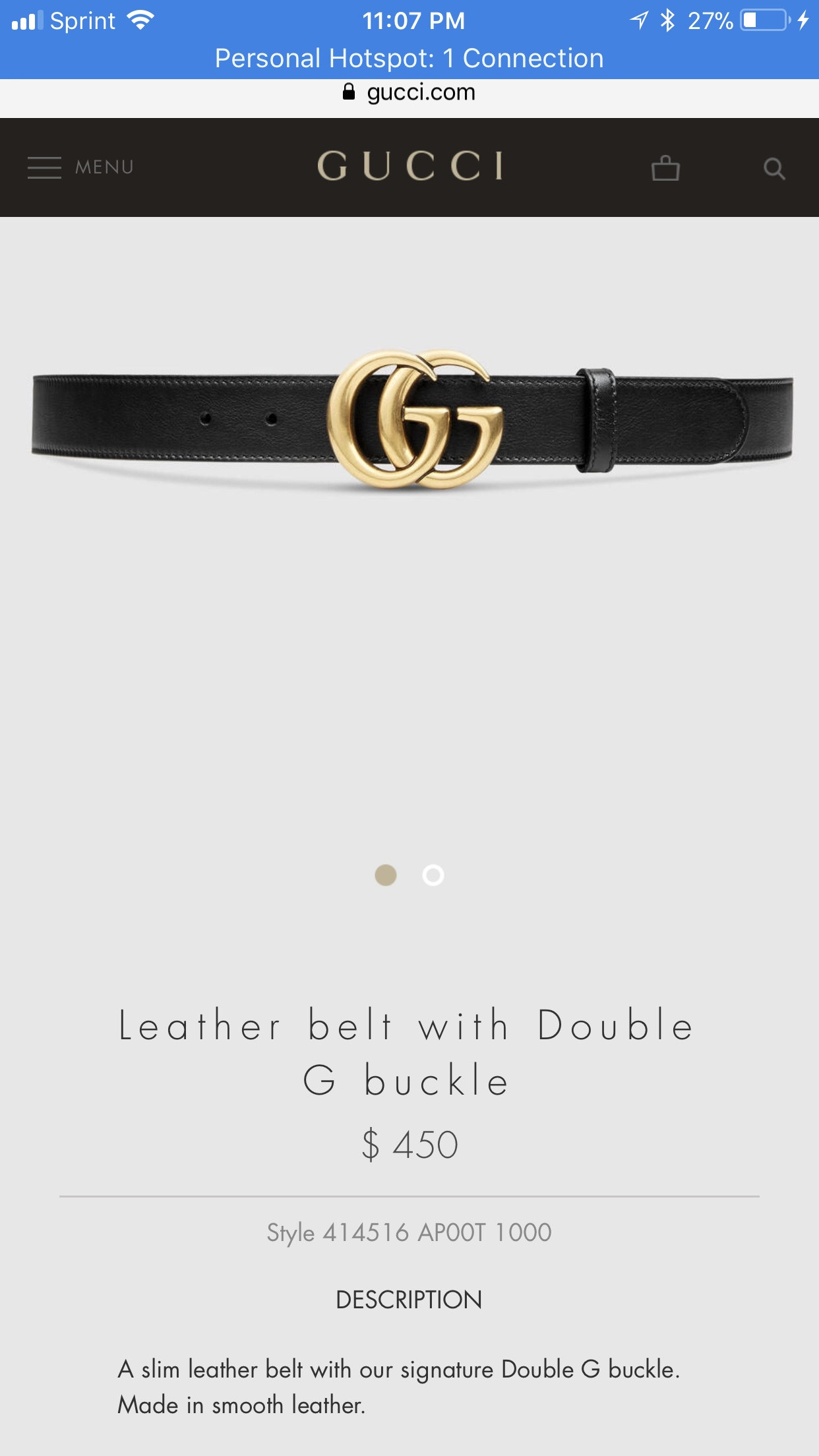 2583ba76b Gucci Gucci Leather Belt With Double G Buckle | Grailed