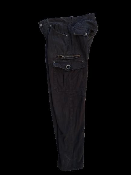 Semantic Design Cargo Pants Medium Vintage Japanese Brand Cargo Bondage Seditionaries Black Multi Pocket Size W32