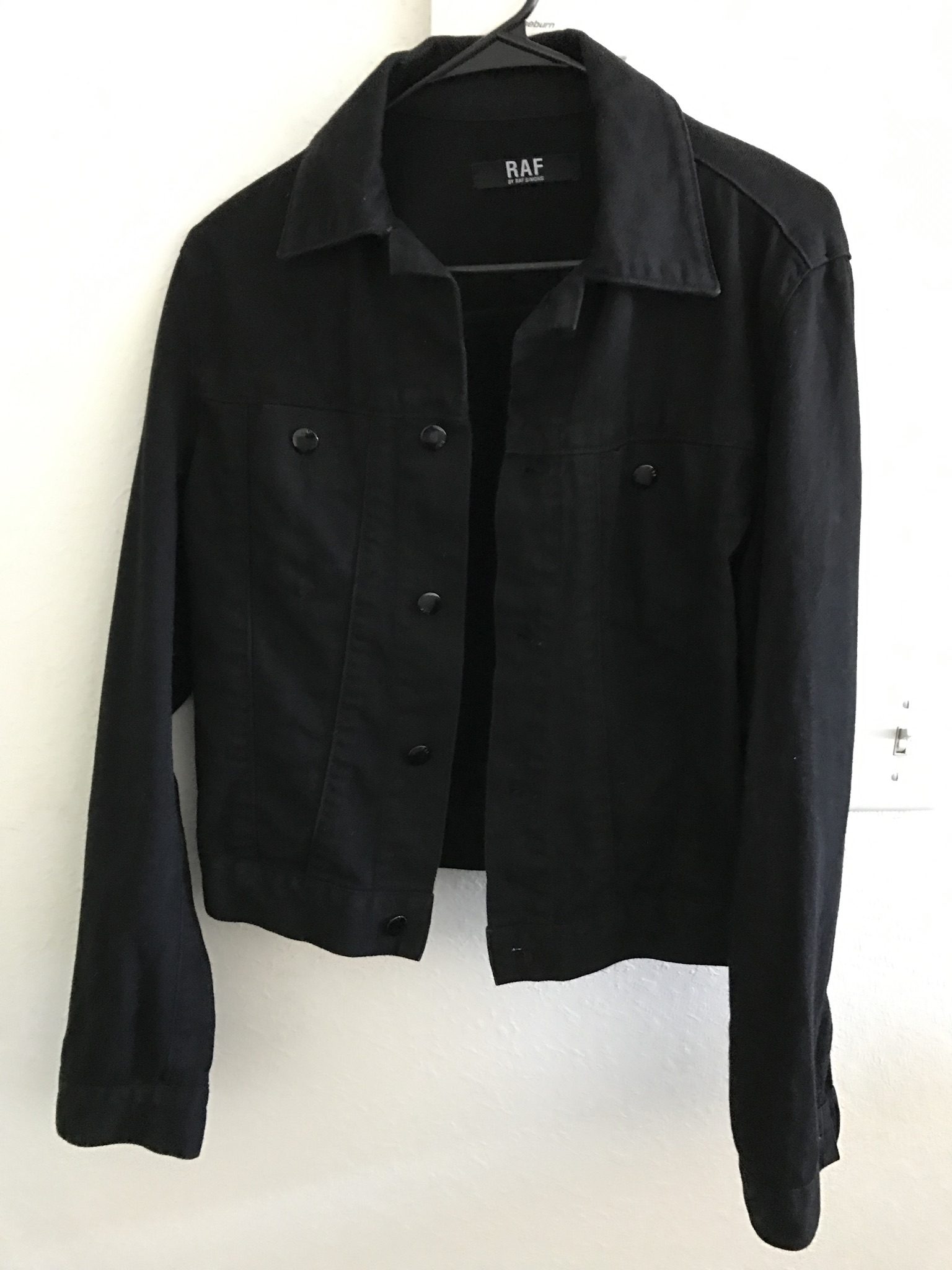 f27075fbc42 Raf Simons Raf Simons Black Denim Jacket Size s - Denim Jackets for ...