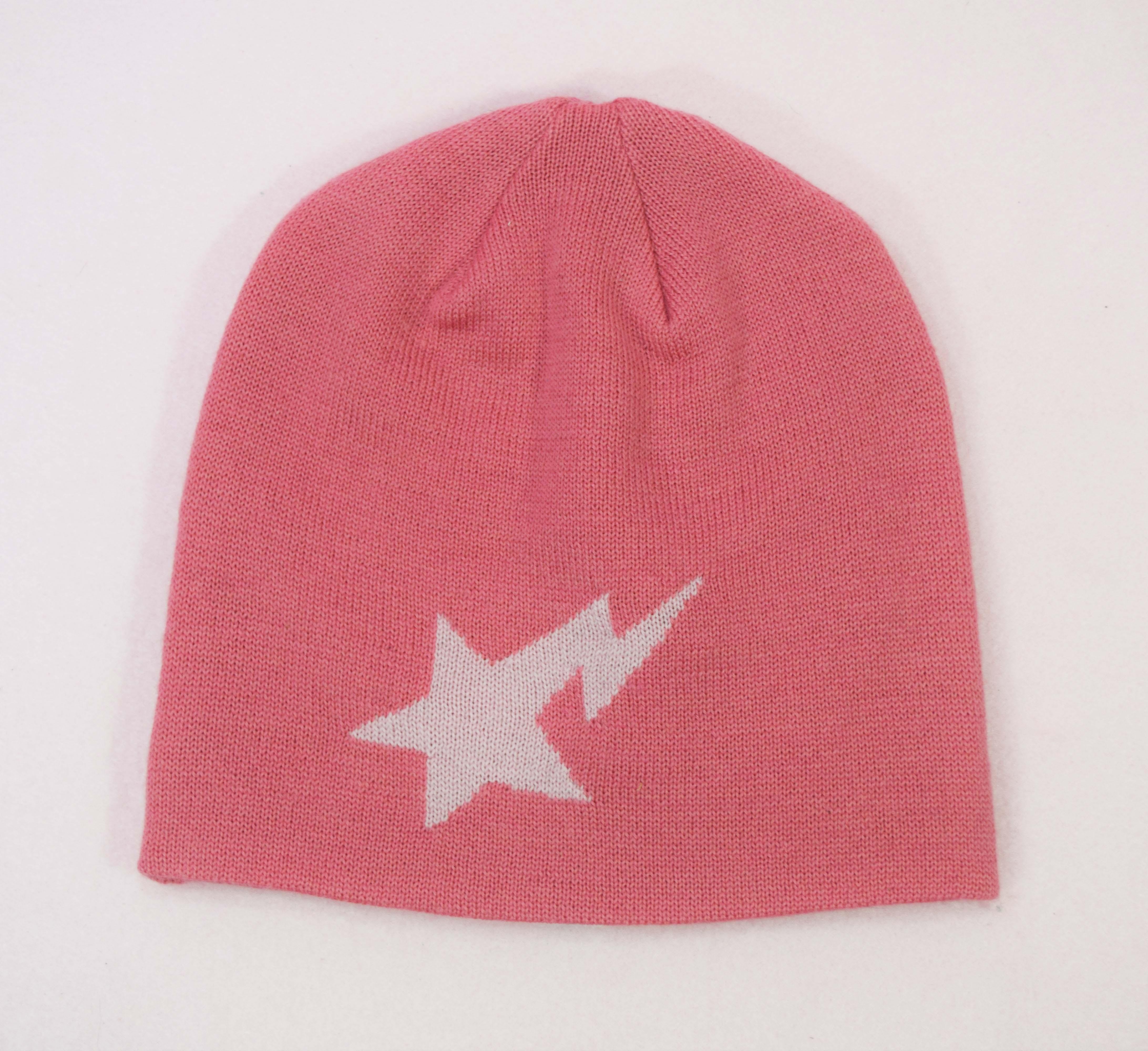 386633eb25e8 Bape Og Bapesta Pink Beanie Skull Cap