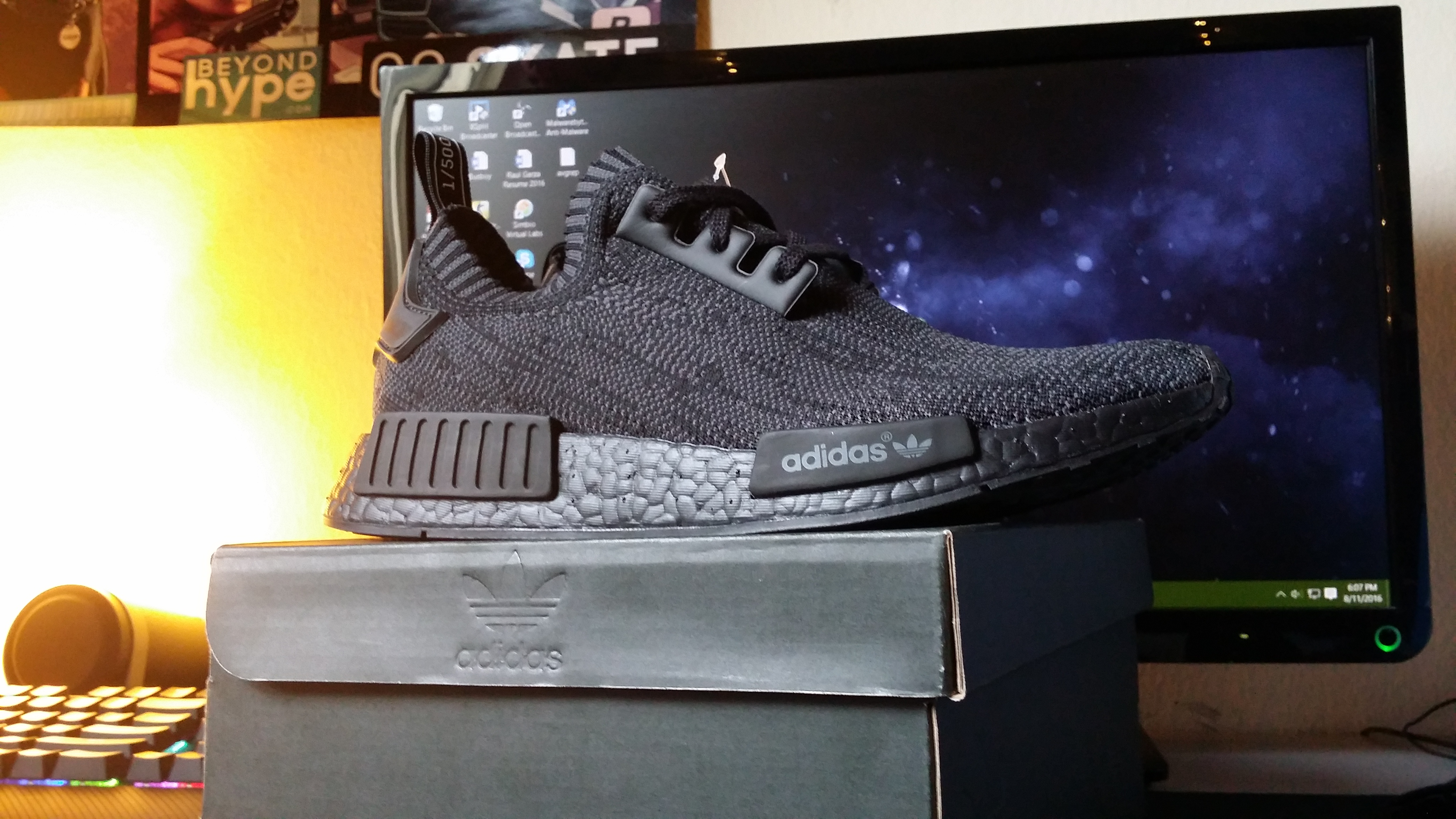 1eb339636ddf9 Adidas NMD Pitch Black Size 8 - Low-Top Sneakers for Sale - Grailed