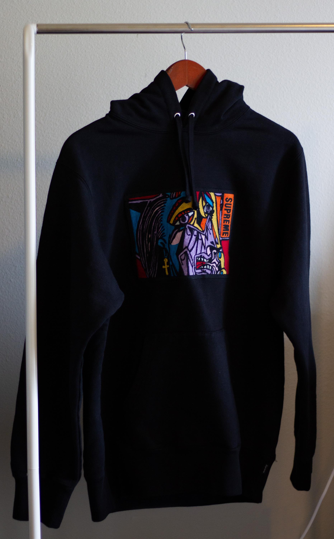 e6c50da7 Supreme Supreme Chainstitch Hoodie (black) | Grailed