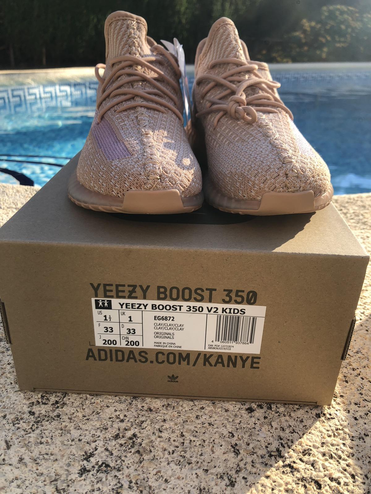 buy popular ac1e2 ea695 Adidas Yeezy Boost 350v2 Clay Kids