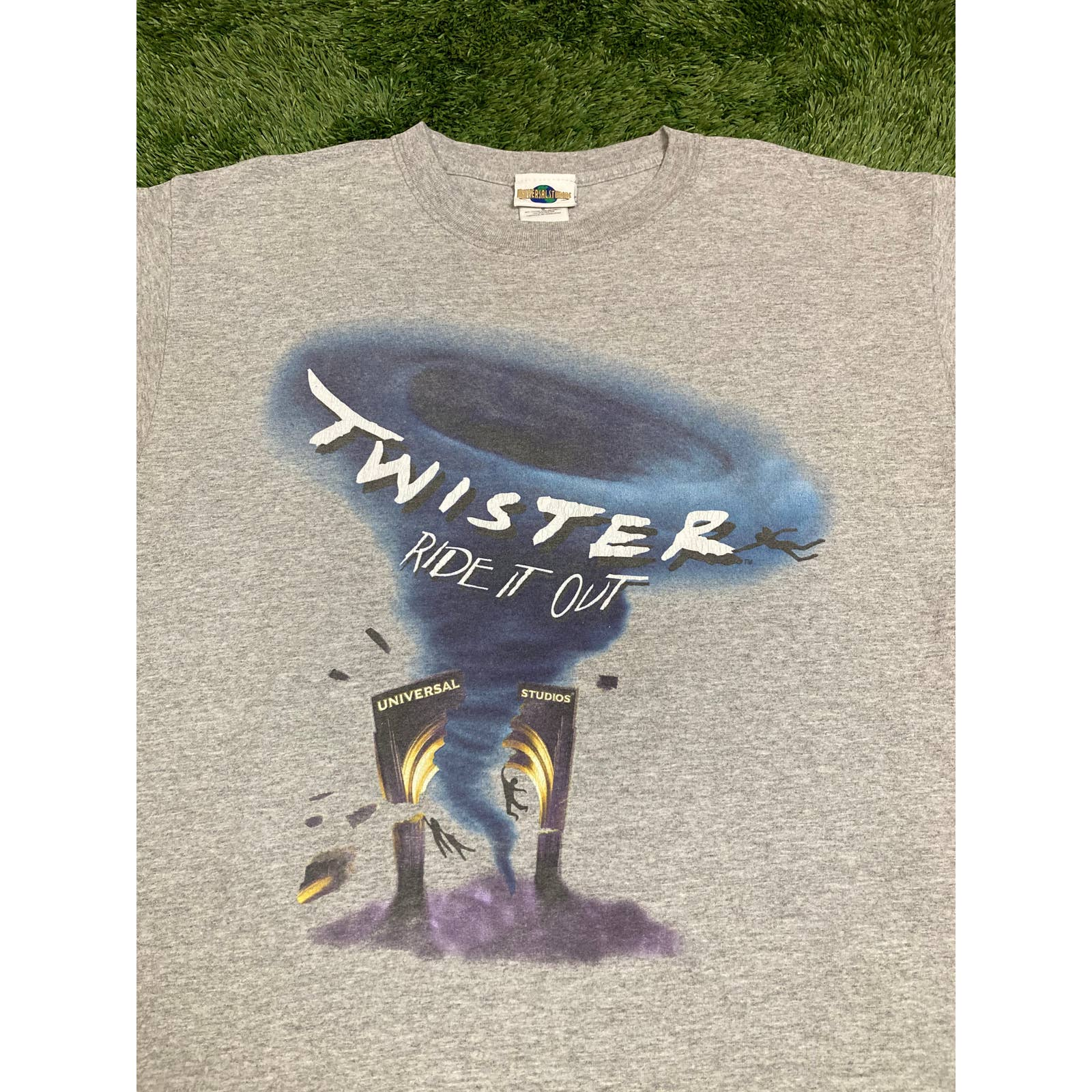 Rare 1996 Twister Movie Promo T-Shirt Warner Brothers Double Sided New US size