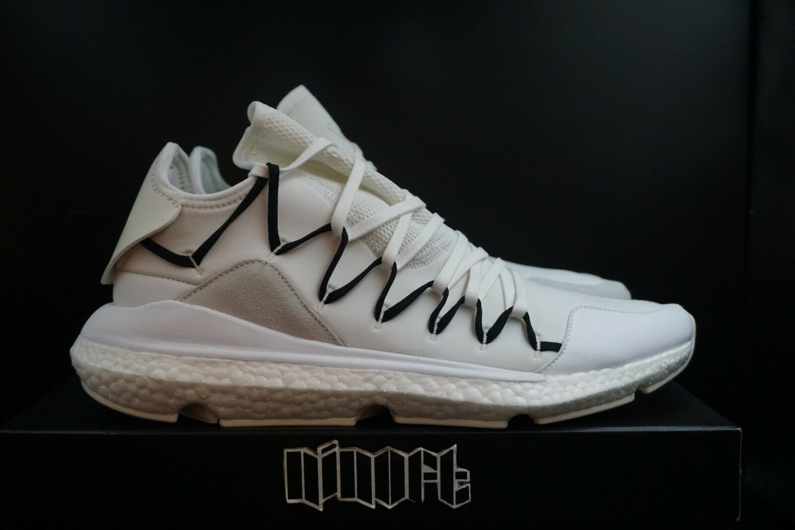 sports shoes 622fe 83694 Adidas Adidas Y-3 Yohji Yamamoto Kusari Boost Core White BC0956 Size 10.5 -  Hi-Top Sneakers for Sale - Grailed