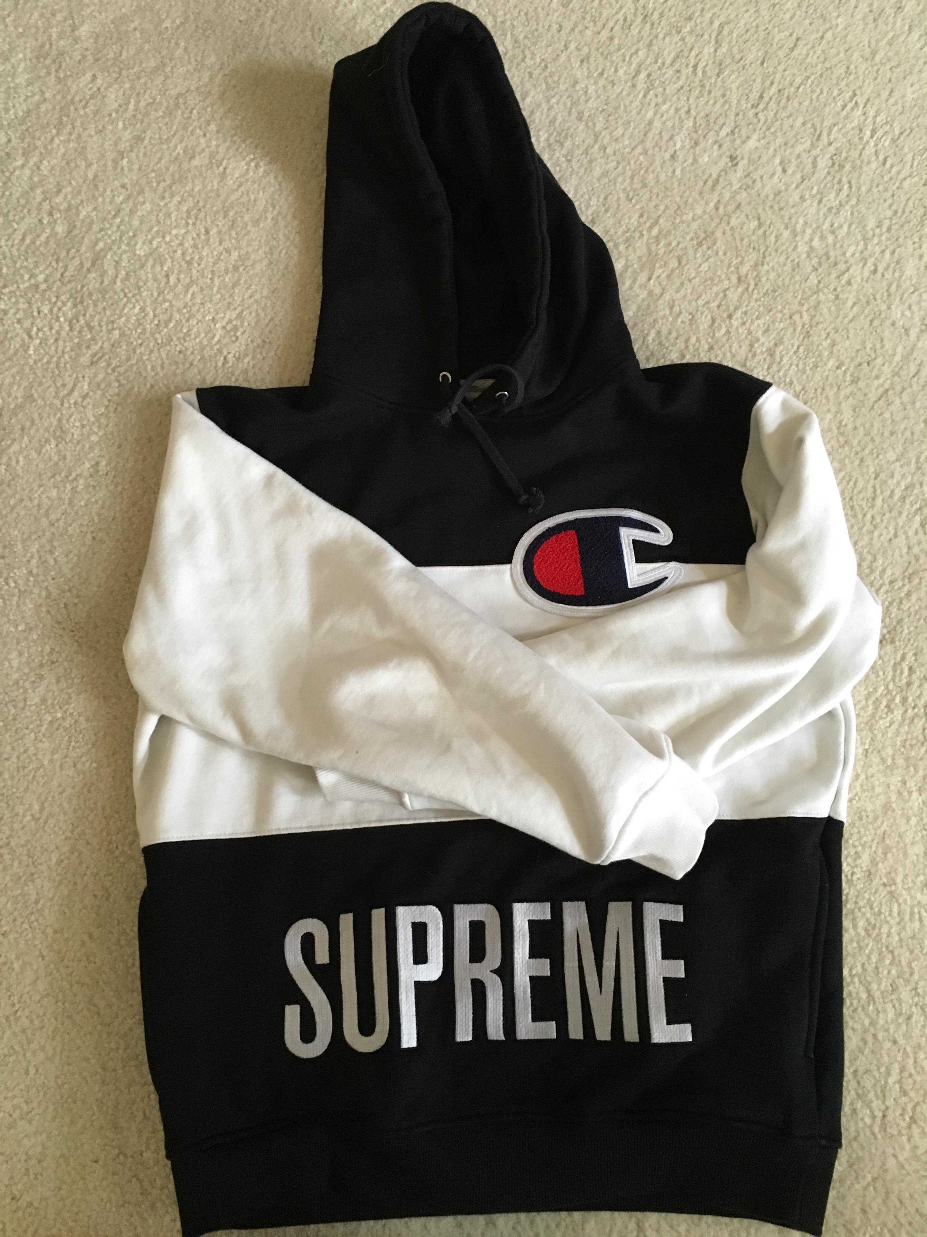 651195421eef Supreme Supreme x Champion Hoodie SS14 Size m - Sweatshirts   Hoodies for  Sale - Grailed