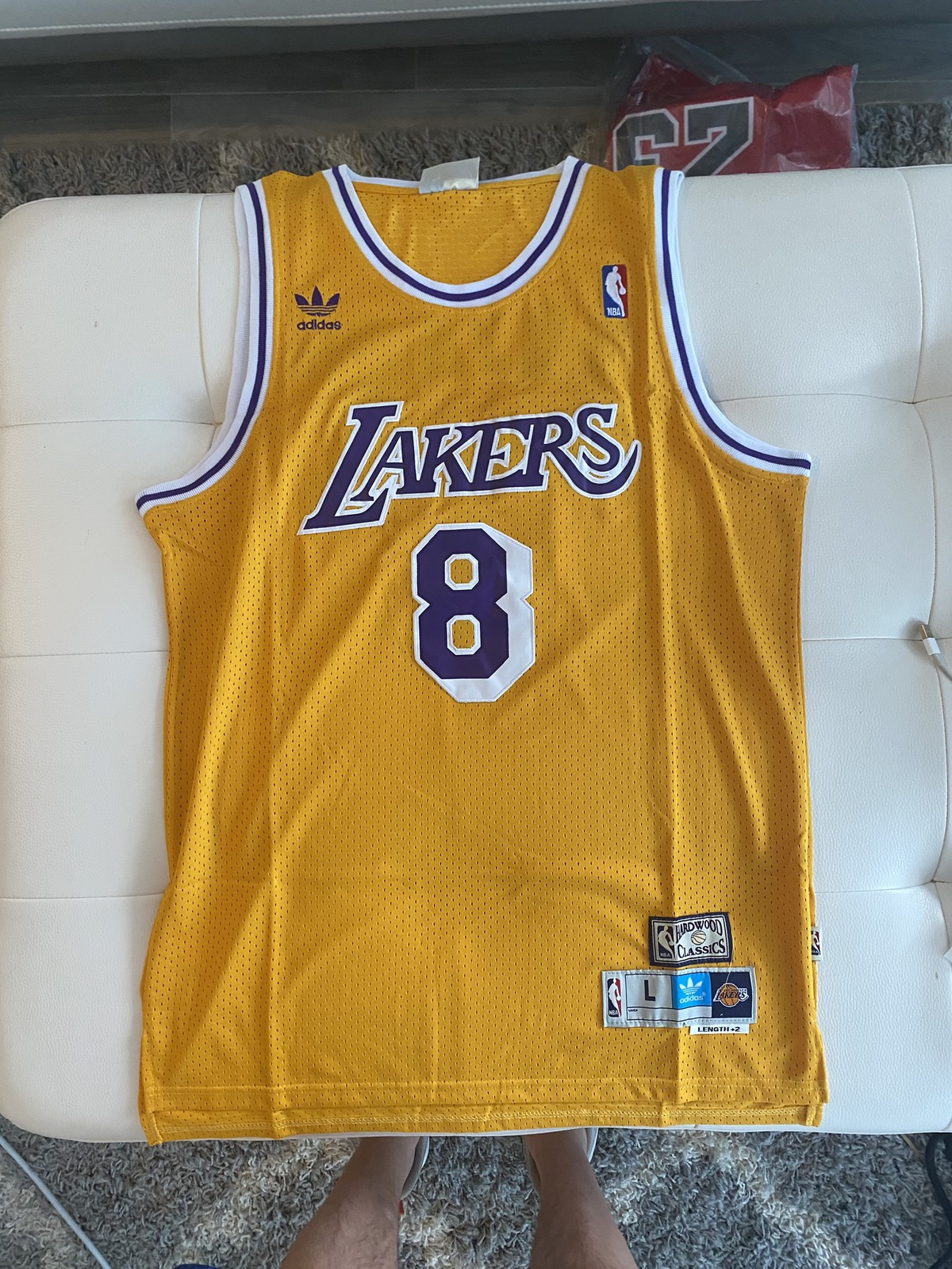 Adidas Kobe Bryant Gold Lakers Throwback Jersey
