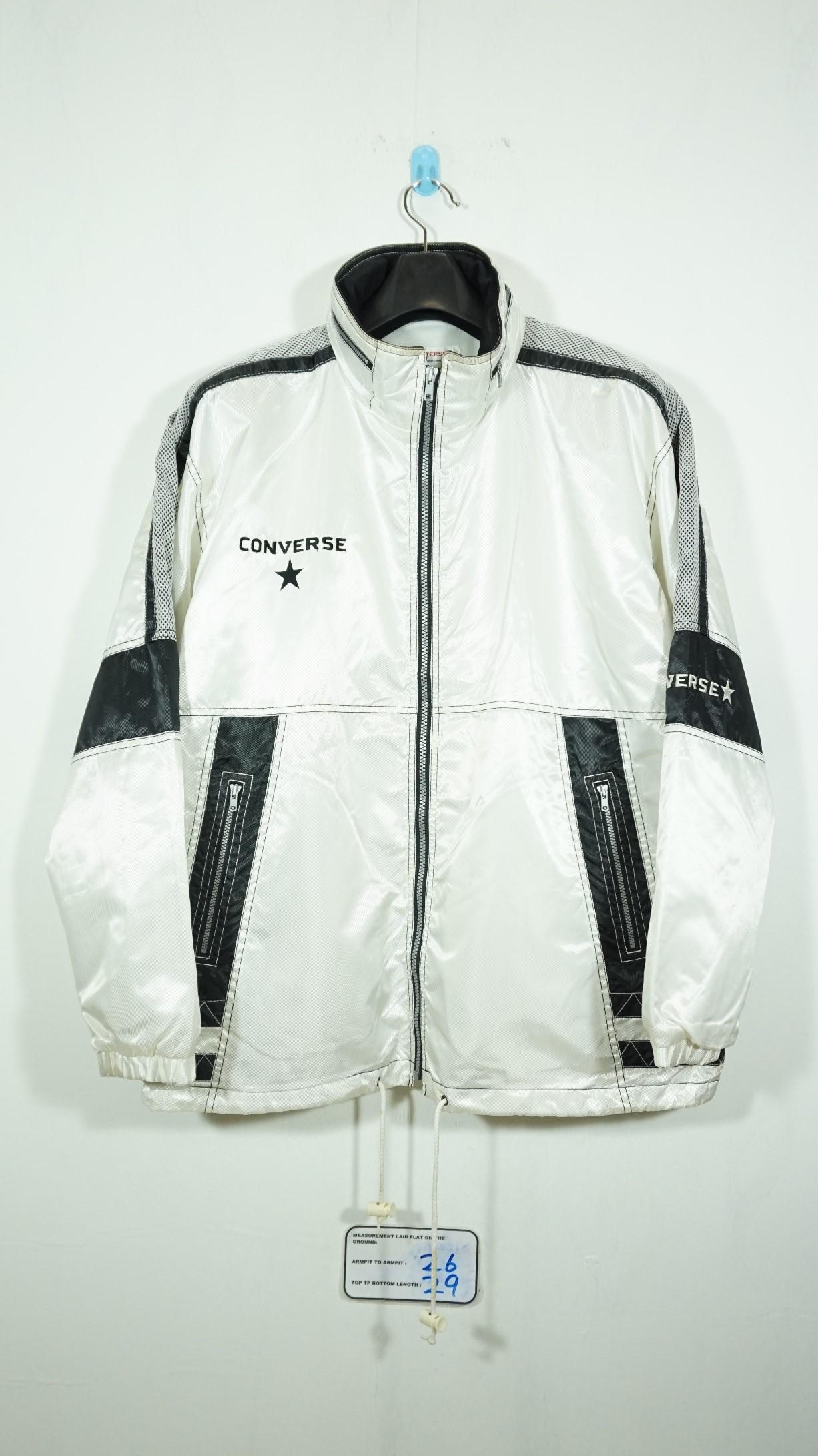 d0bd67cebbdd Vintage × Converse. Vintage Converse Jaspo One Star Hooded Windbreaker  Jacket Size Large