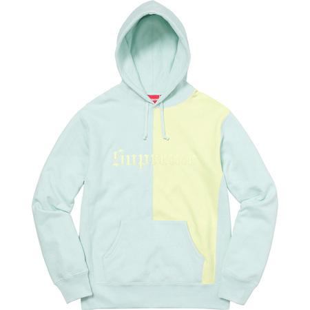 07492643f Supreme Split Old English Hooded Sweatshirt Ice Blue | Grailed