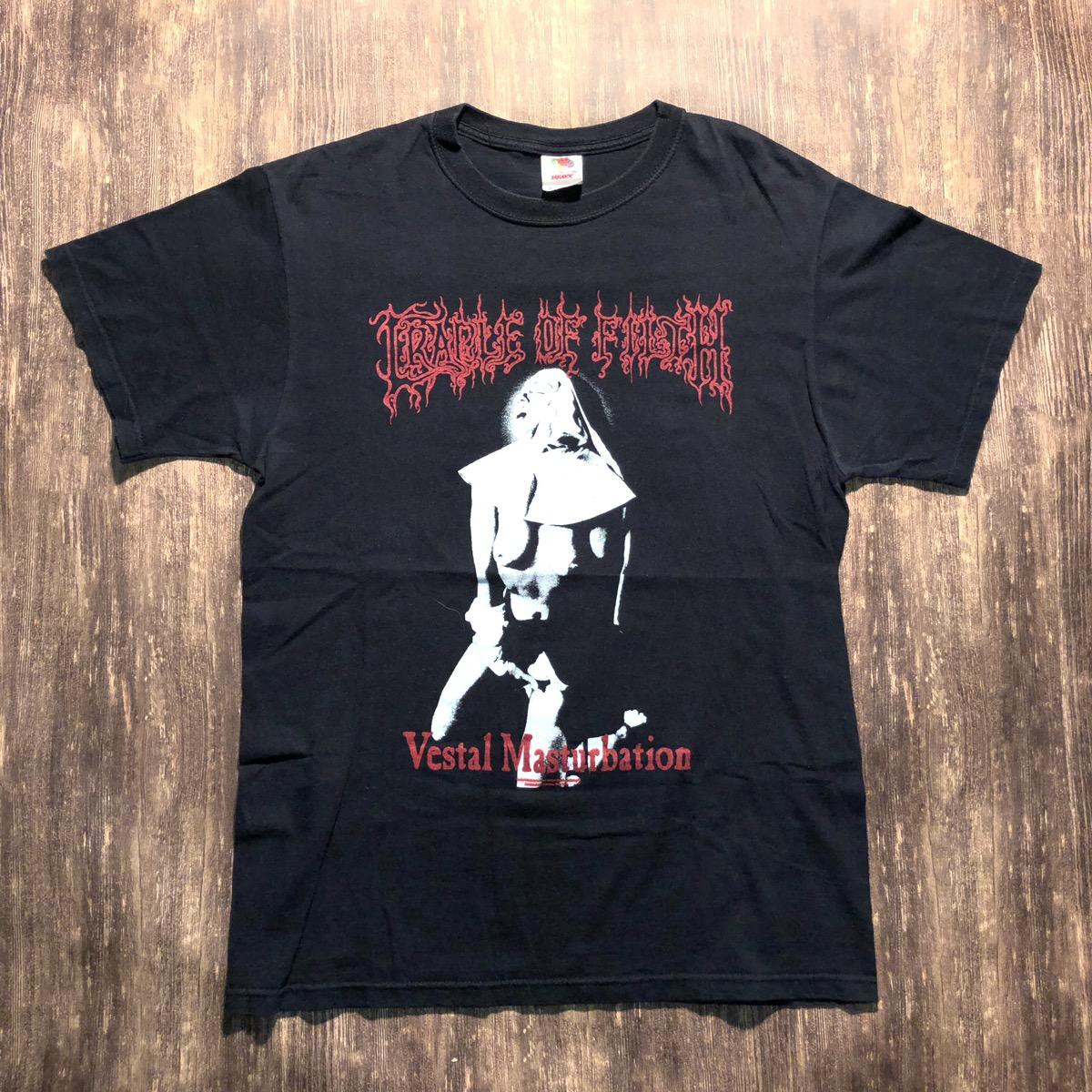 Amazing Rare Cradle Of Filth Vestal masturbation vintage 1990/'s shirt  unisex size medium