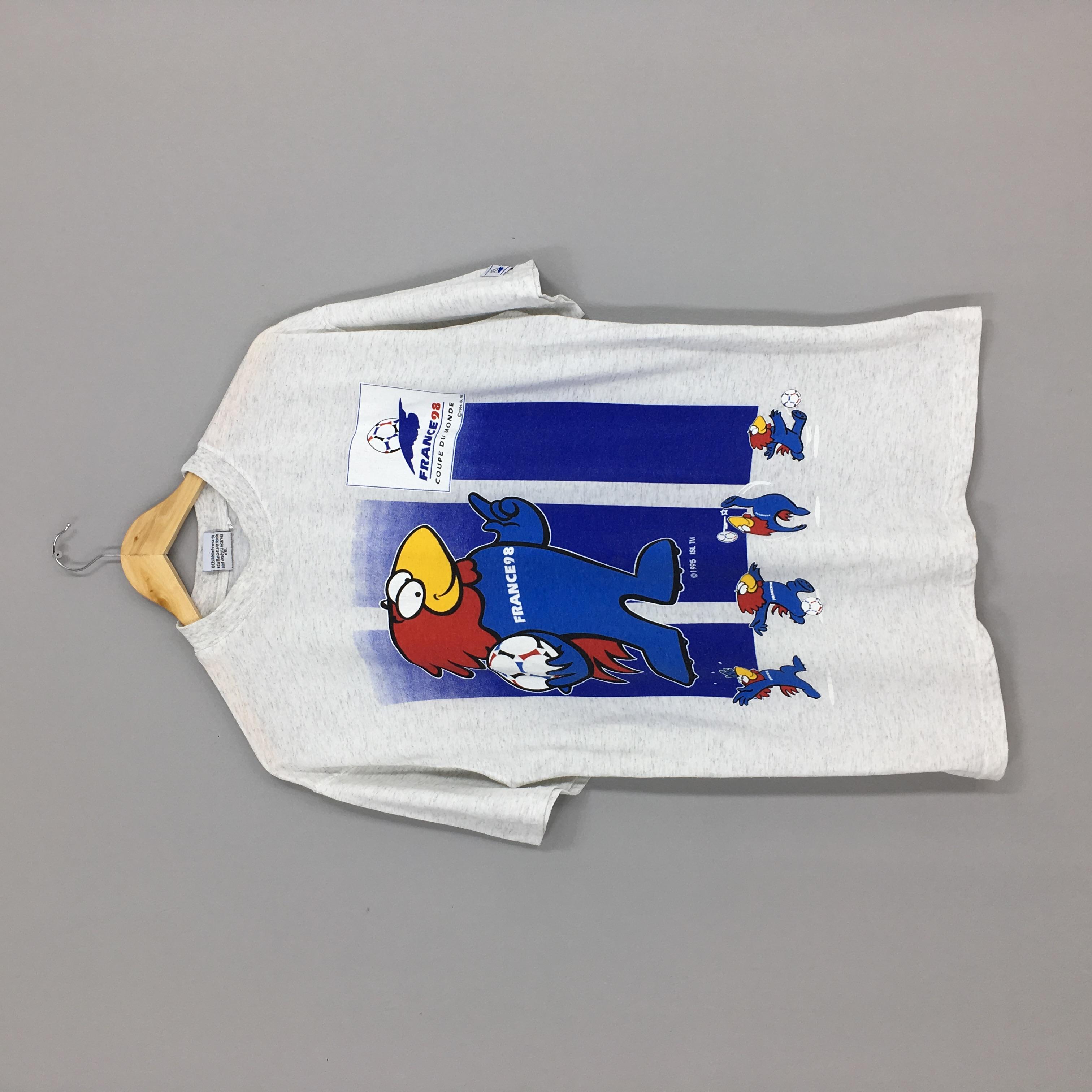 Rare !! Vintage 90s Fifa World Cup 1998 France Crewneck T-Shirt vtg Football Sportwear Fashion Style Streetwear Shirt Extra Large Size