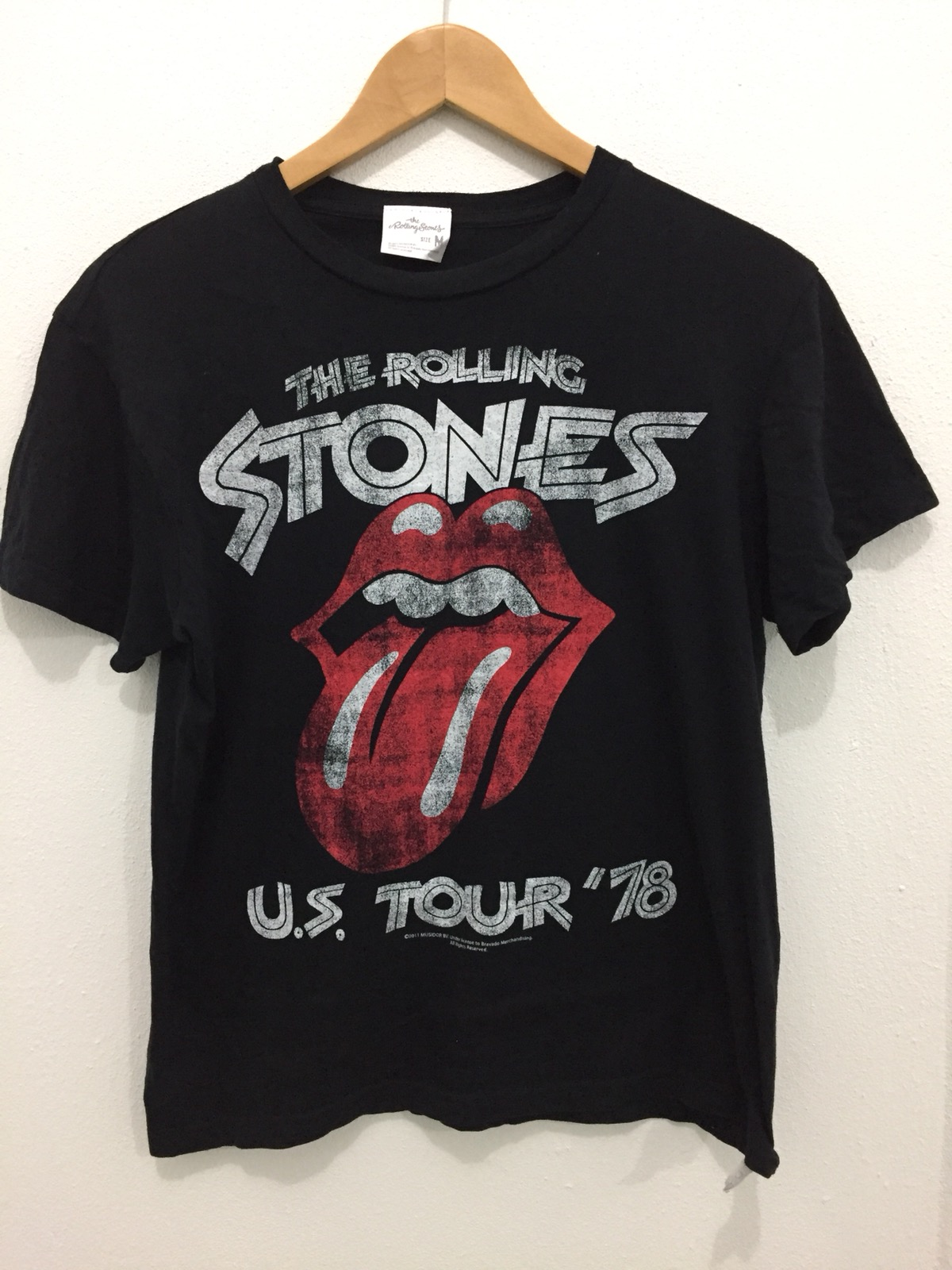 The Rolling Stones T-Shirt Distressed Design Tie Dye US TOUR /'78 CNCERT NEW