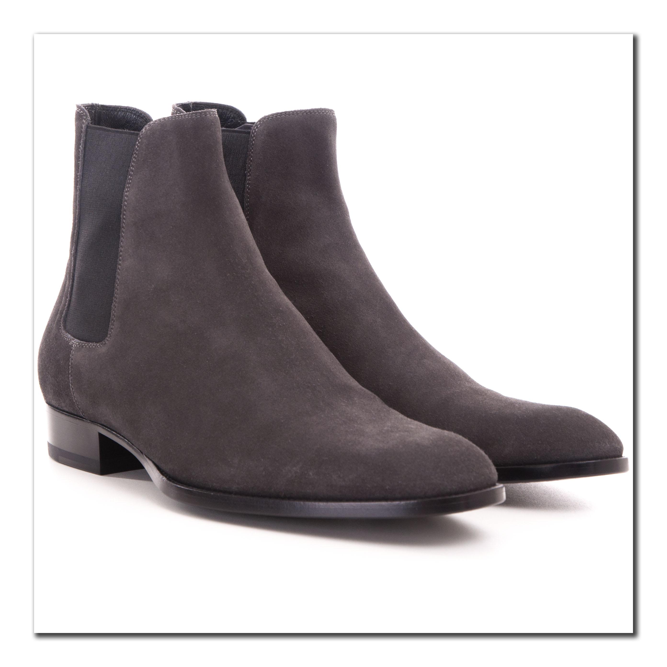 b40ff86f65c Saint Laurent Paris 945$ New Wyatt 30 Chelsea Boots In Asphalt Suede ...
