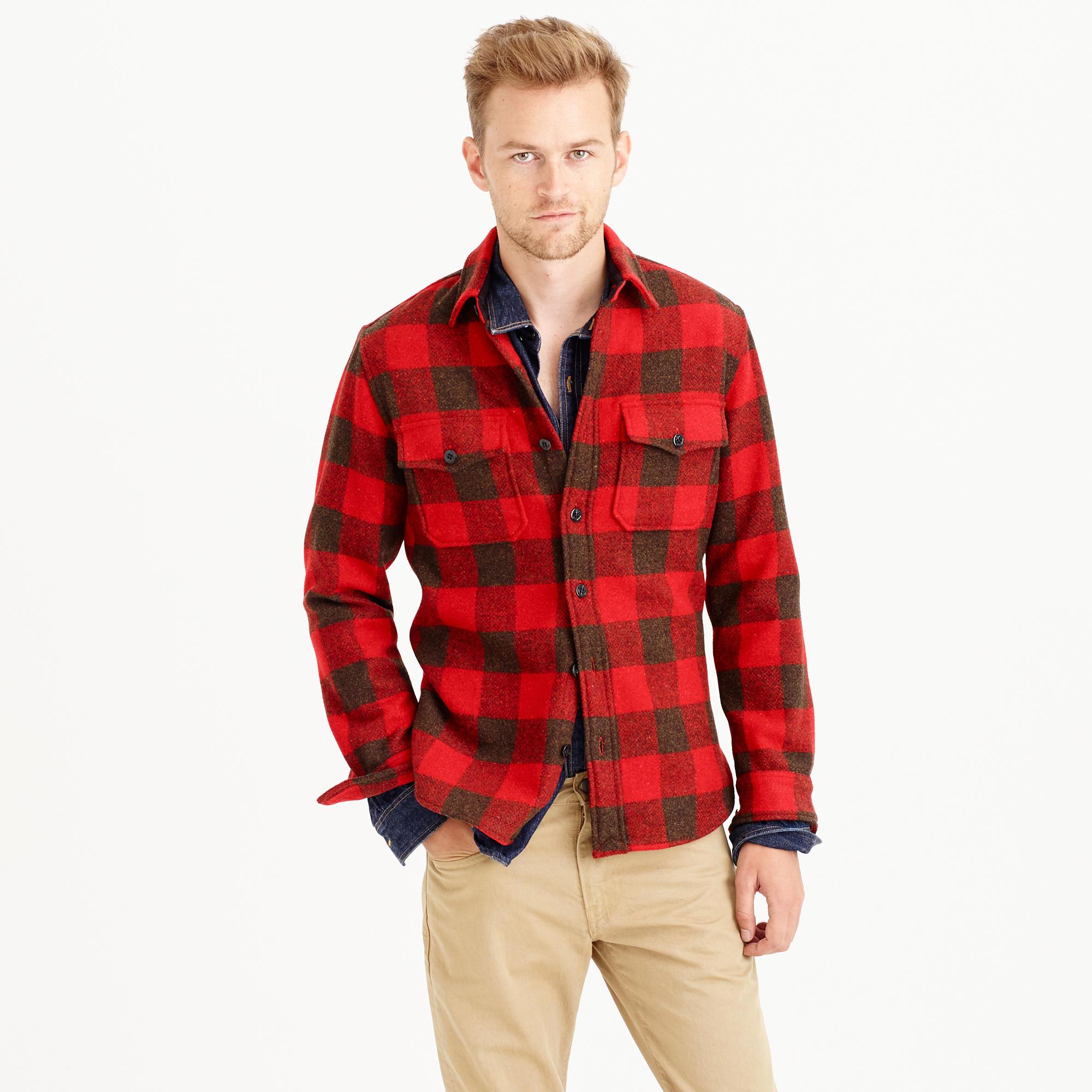 93342801 Wallace & Barnes Buffalo Check Cpo Shirt-jacket | Grailed